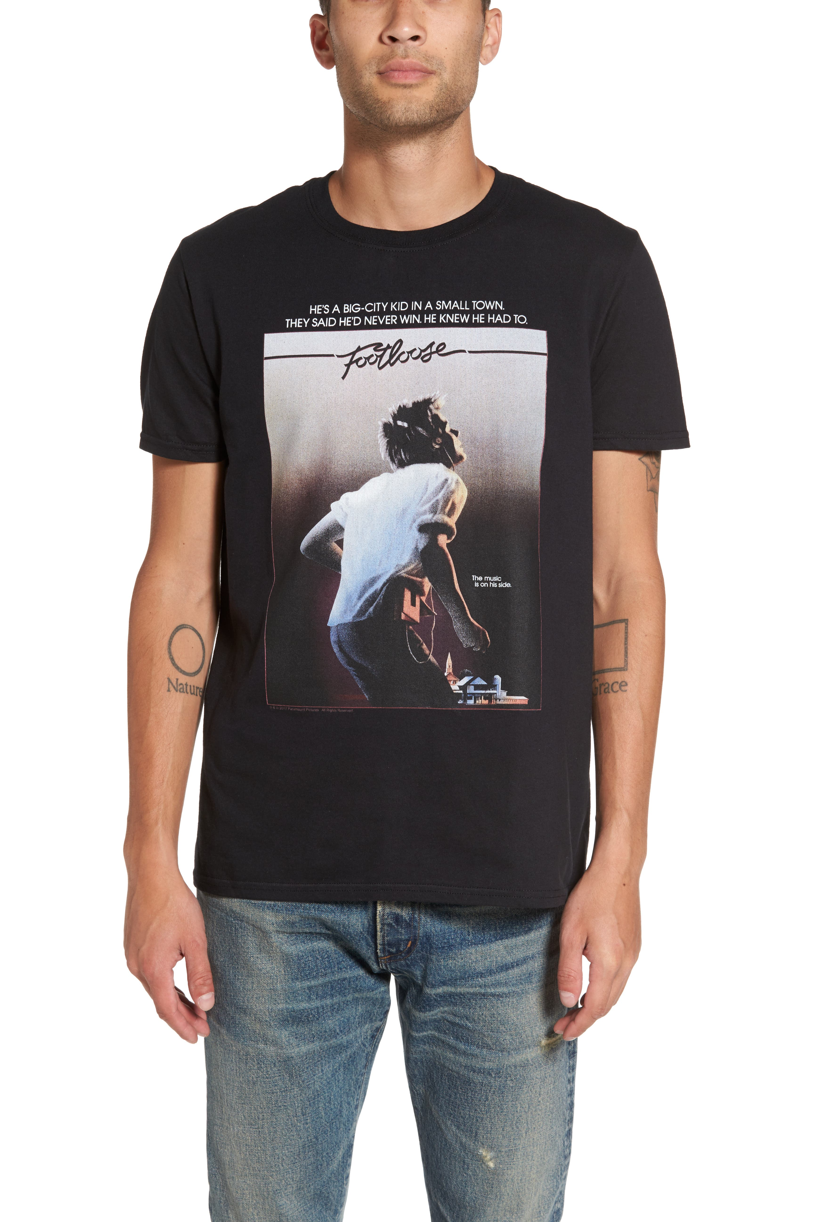 Graphic T-Shirt,                         Main,                         color, Charcoal Footloose