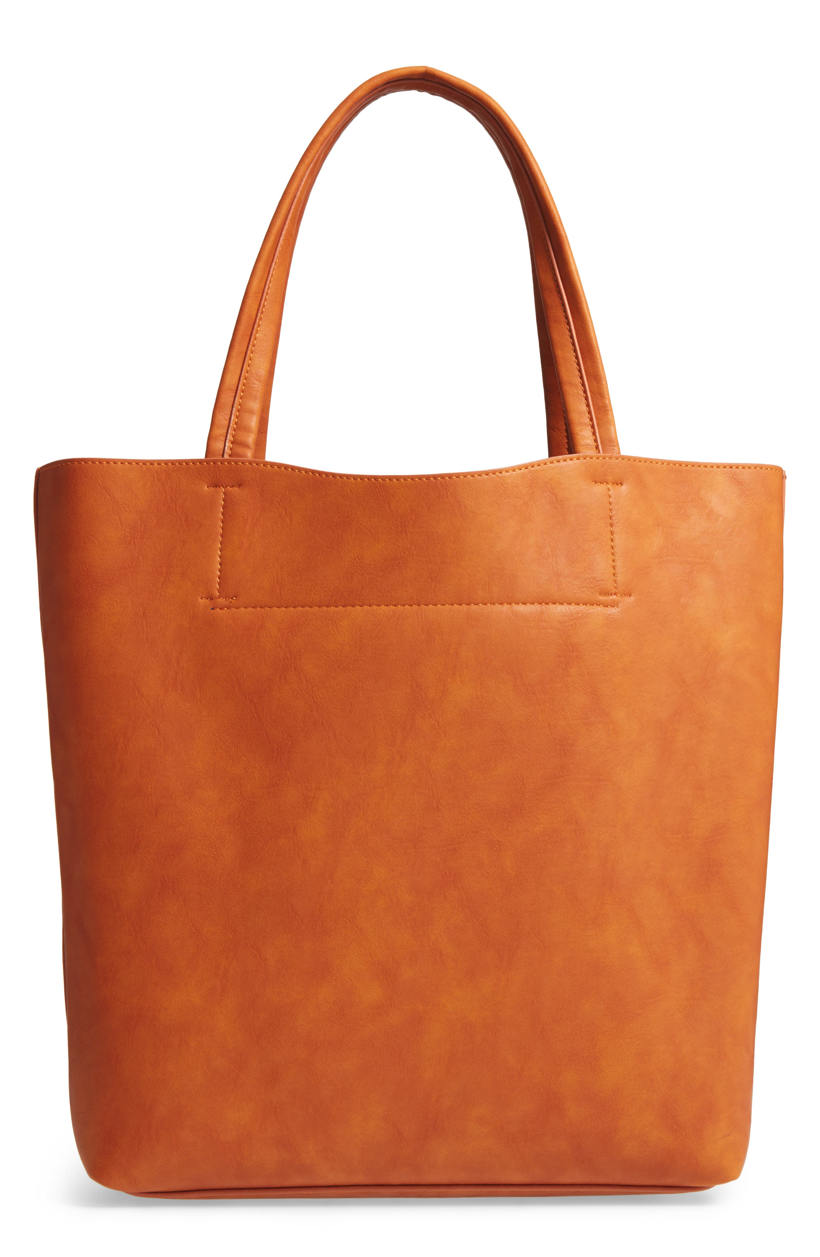 Alternate Image 2  - Sole Society Oversize Melyssa Faux Leather Tote