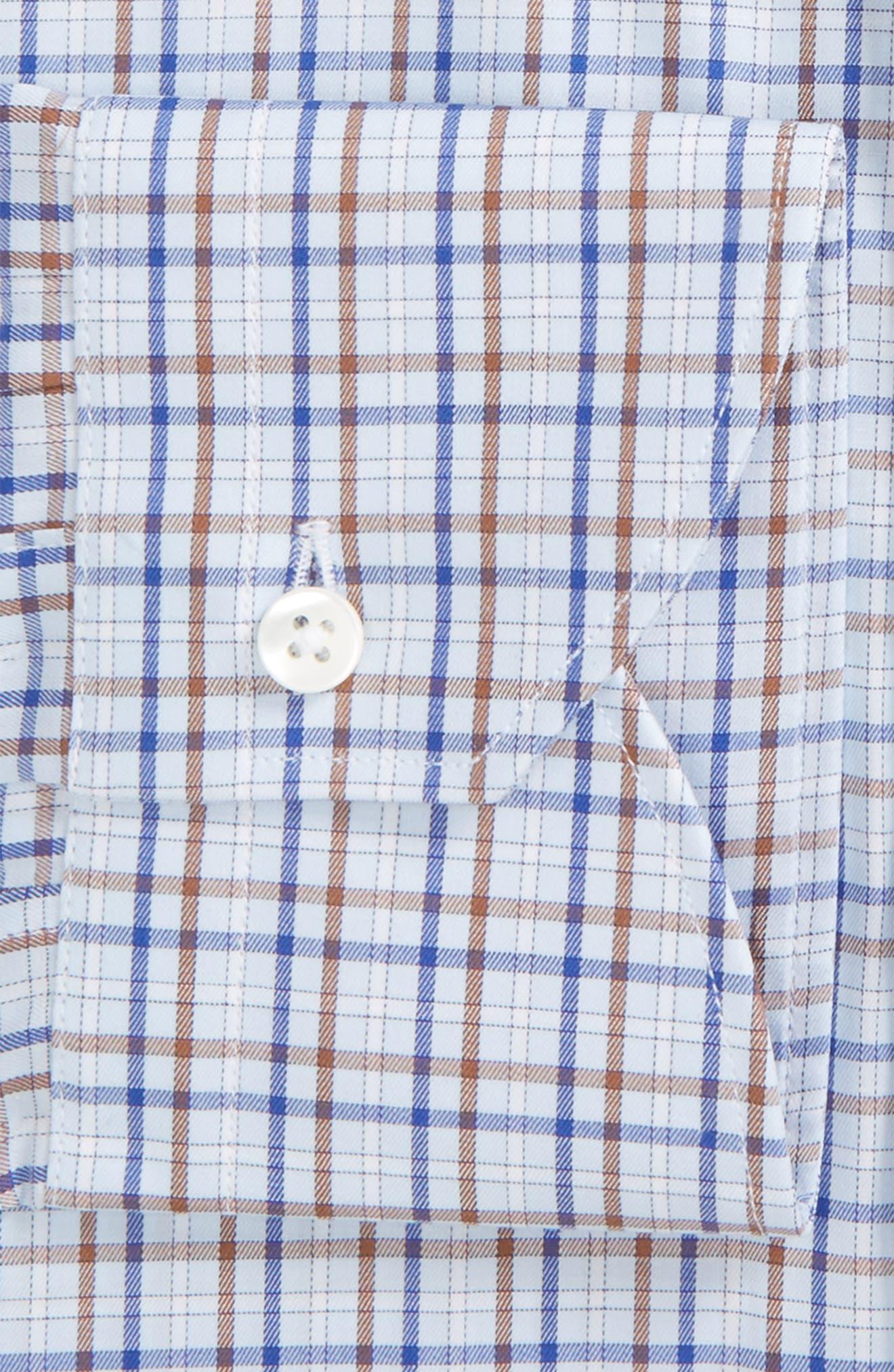 Alternate Image 2  - Canali Regular Fit Check Dress Shirt
