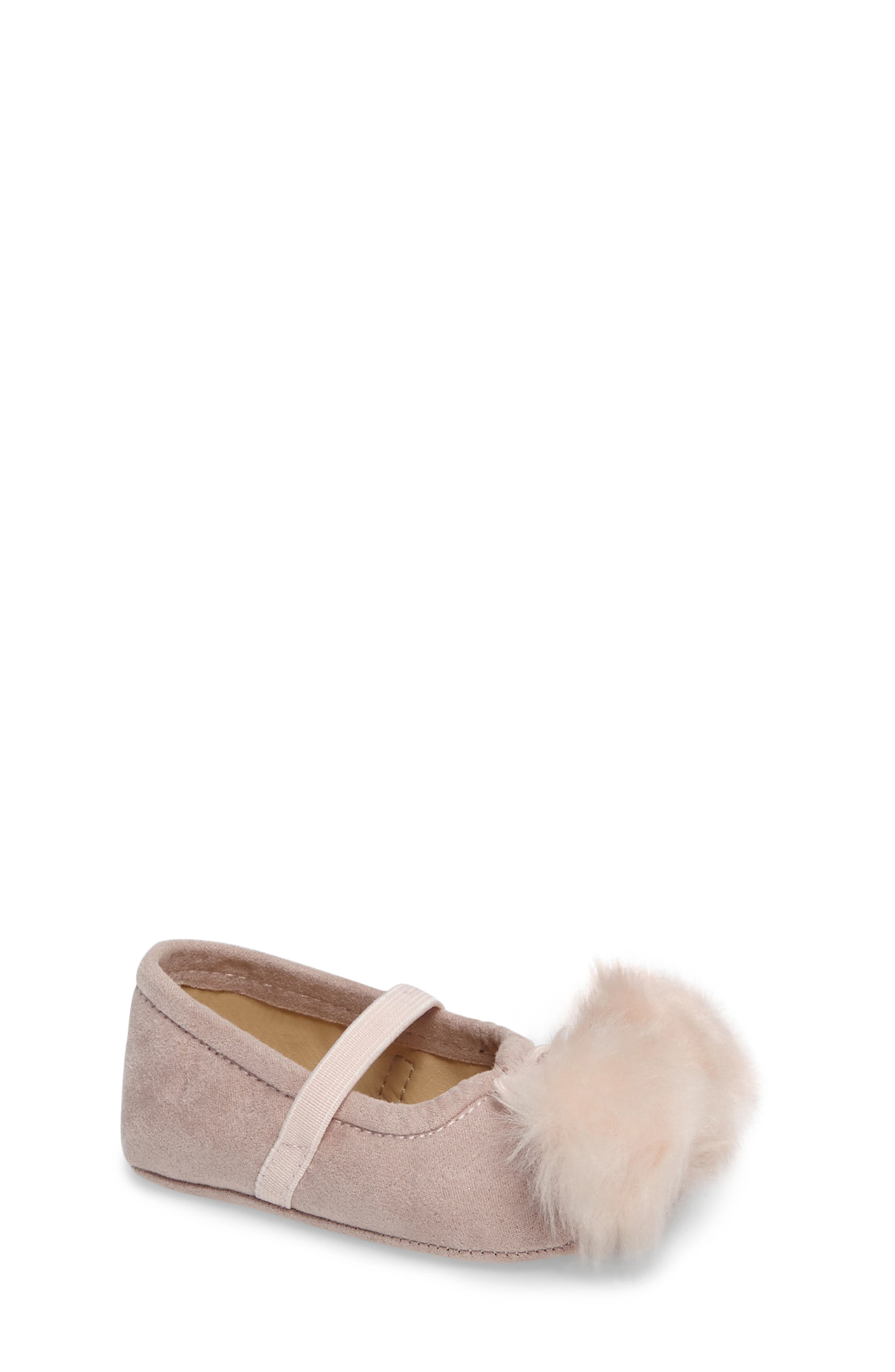 Sam Edelman Felicia Faux Fur Pompom Mary Jane Flat (Baby)