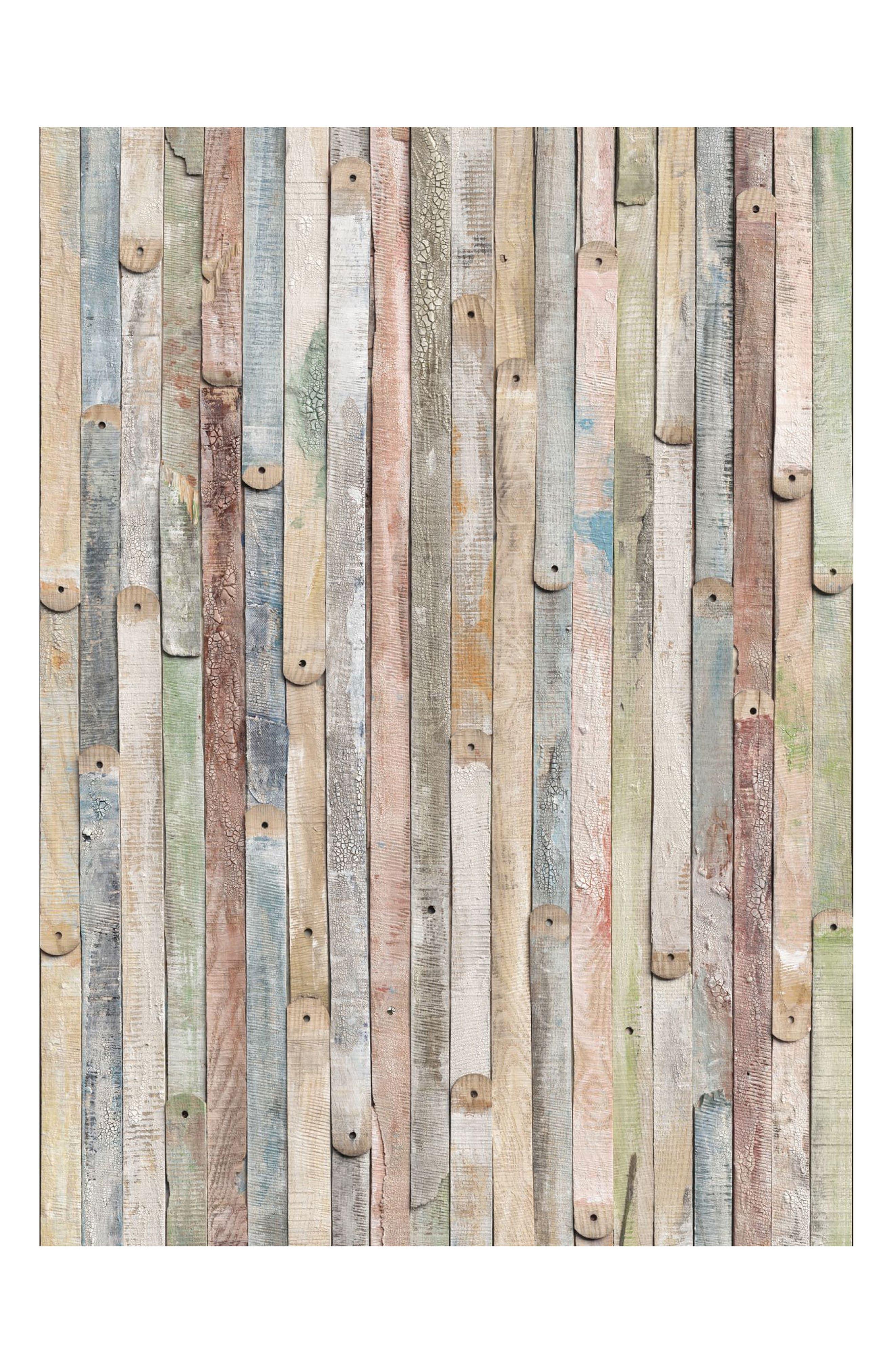 Vintage Wood Wall Mural,                             Main thumbnail 1, color,                             Neutral