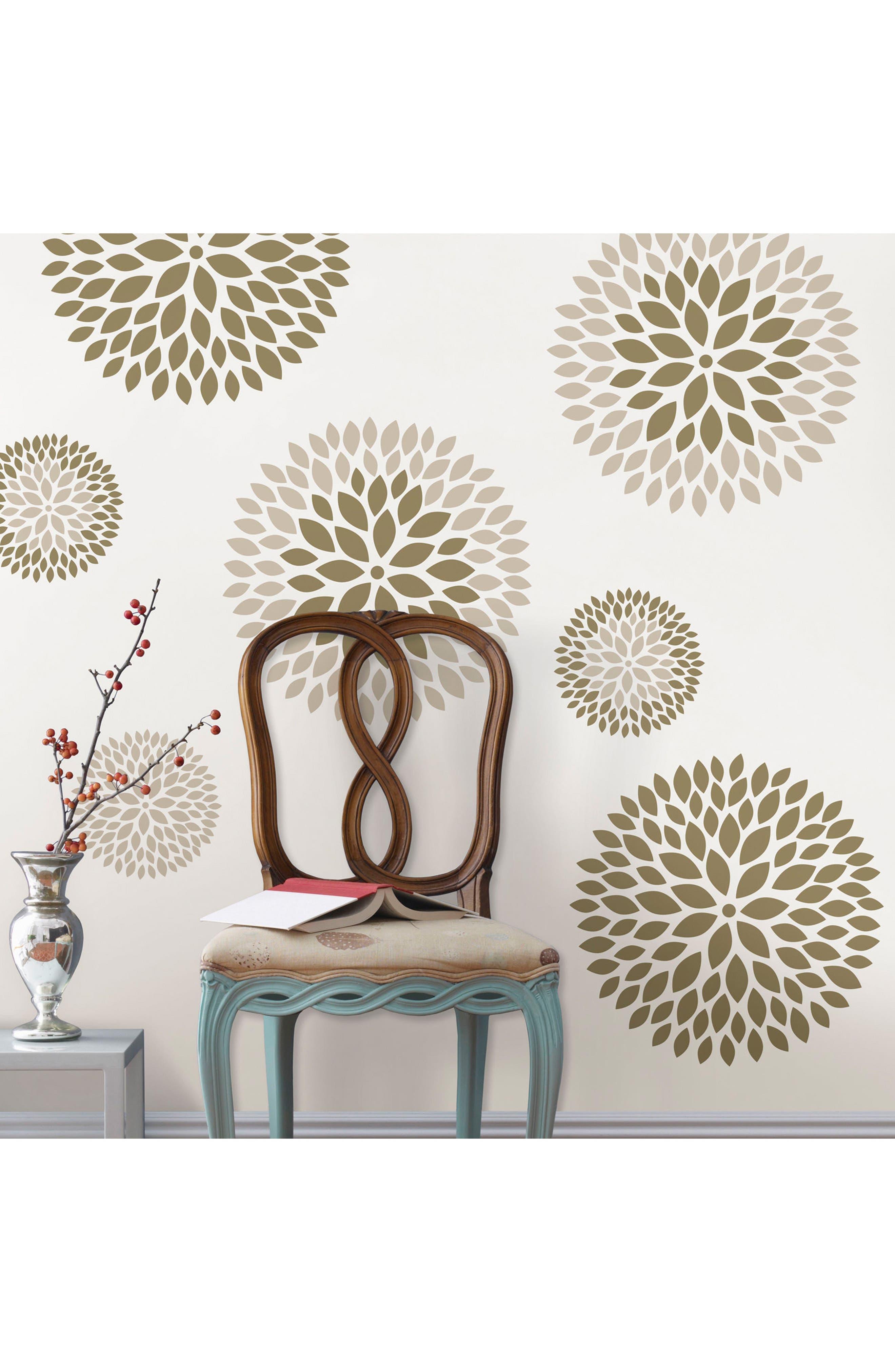 Alternate Image 3  - Wallpops Chrysanthemum 8-Piece Wall Art Decal Set
