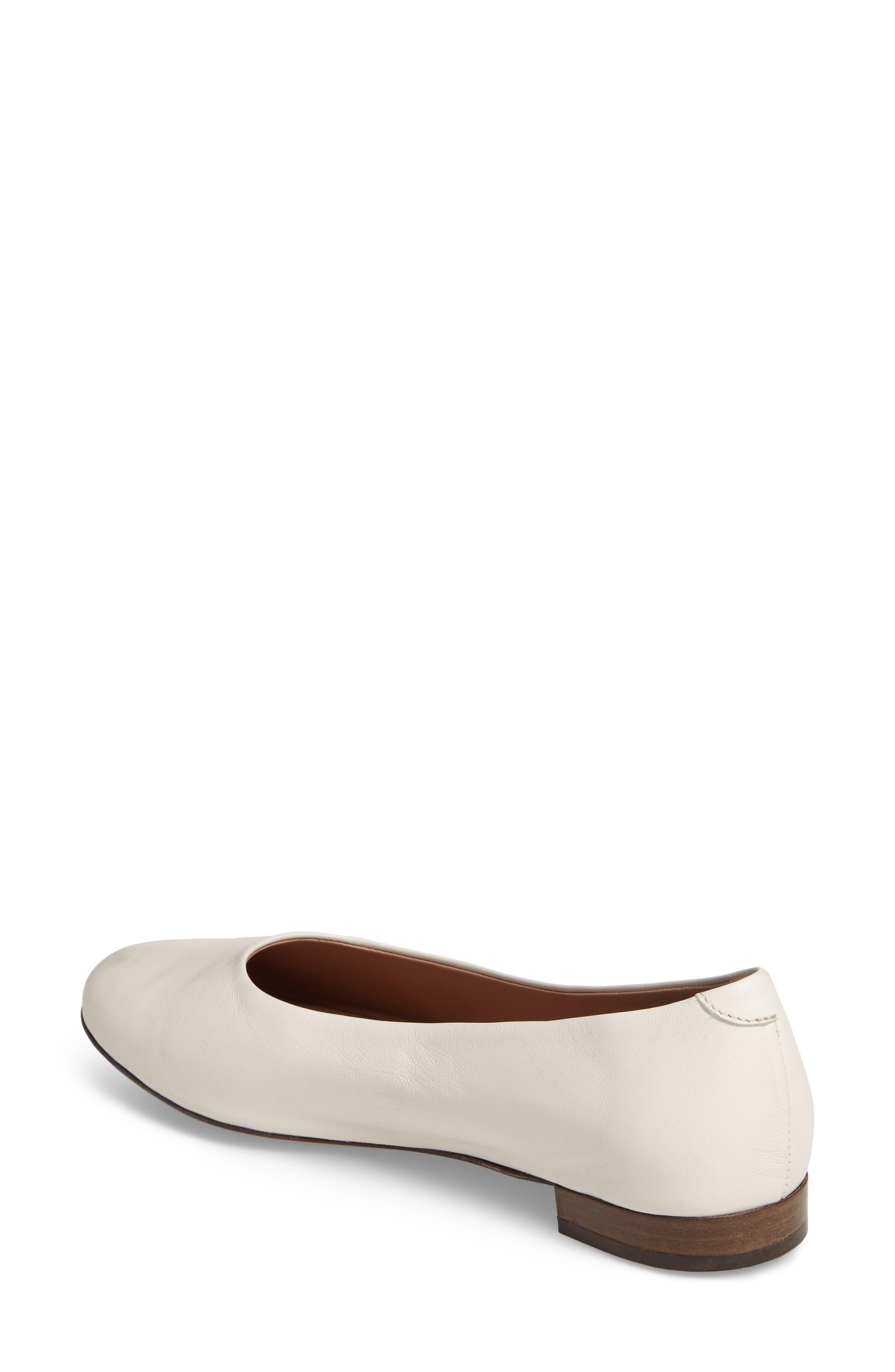 Gemma Ballerina Flat,                             Alternate thumbnail 3, color,                             Bone Leather