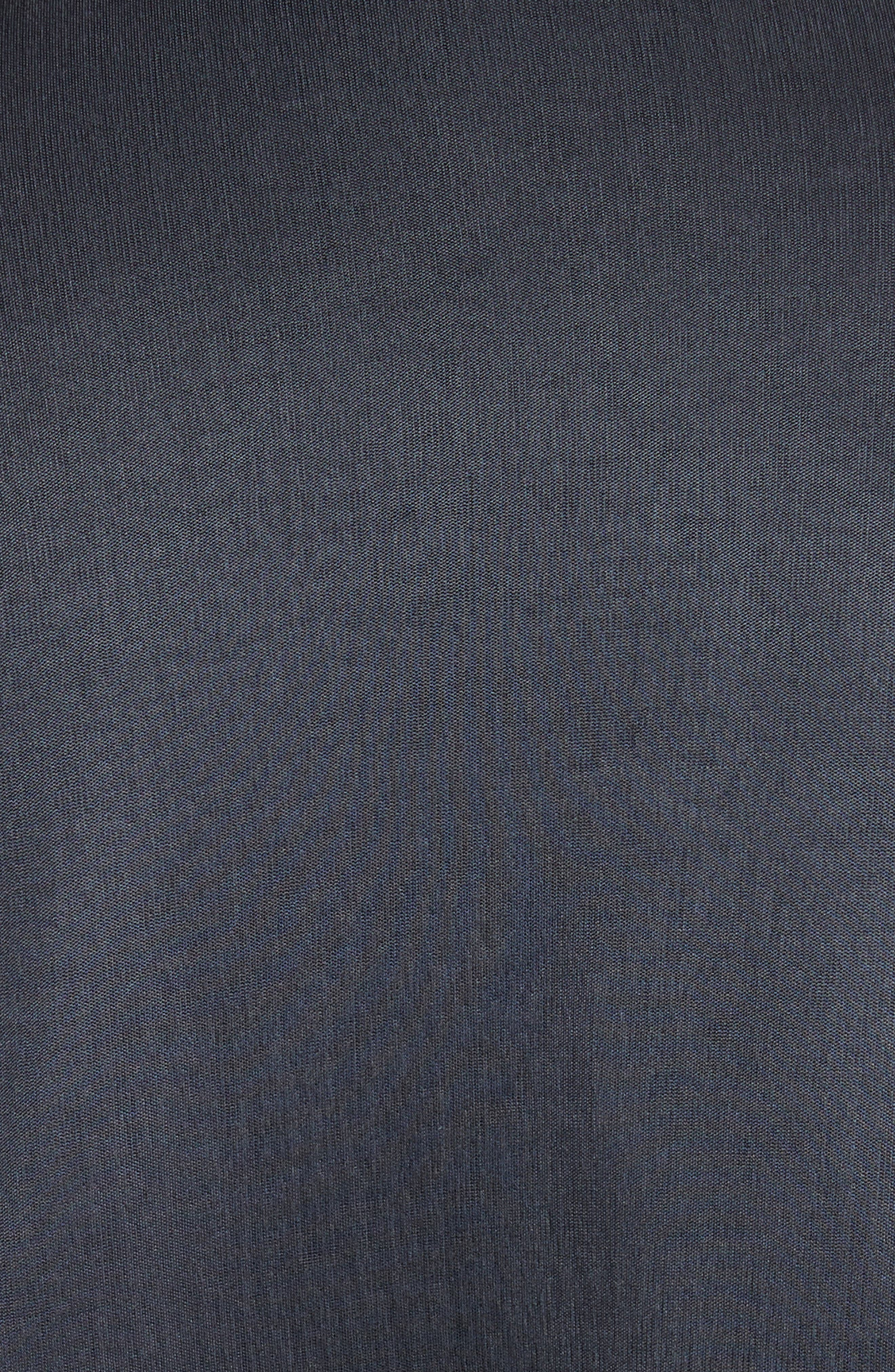 Immortal Flare Sleeve Sweater,                             Alternate thumbnail 3, color,                             Charcoal Navy