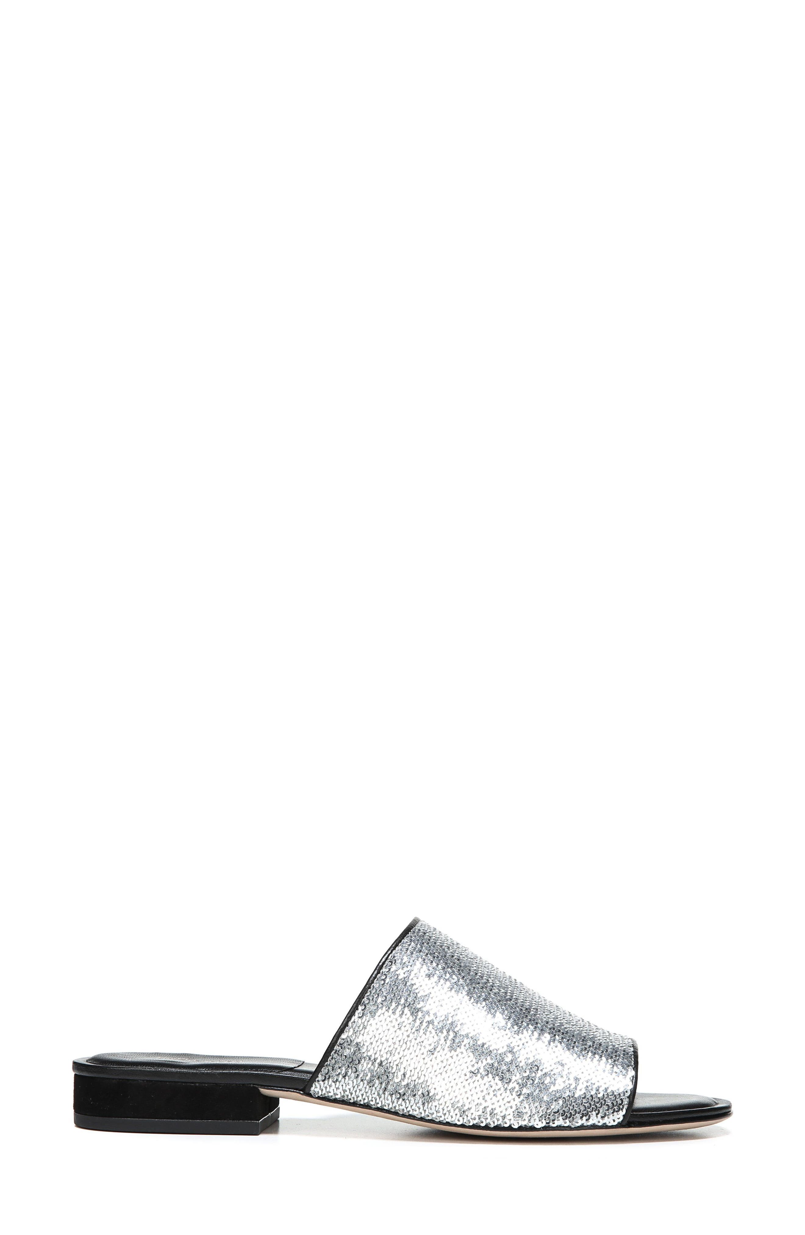 Samassi 1 Slide Sandal,                             Alternate thumbnail 3, color,                             Silver Sequins