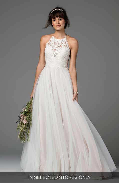 f132e4efe993 Willowby Esperance Lace   Net Halter Gown