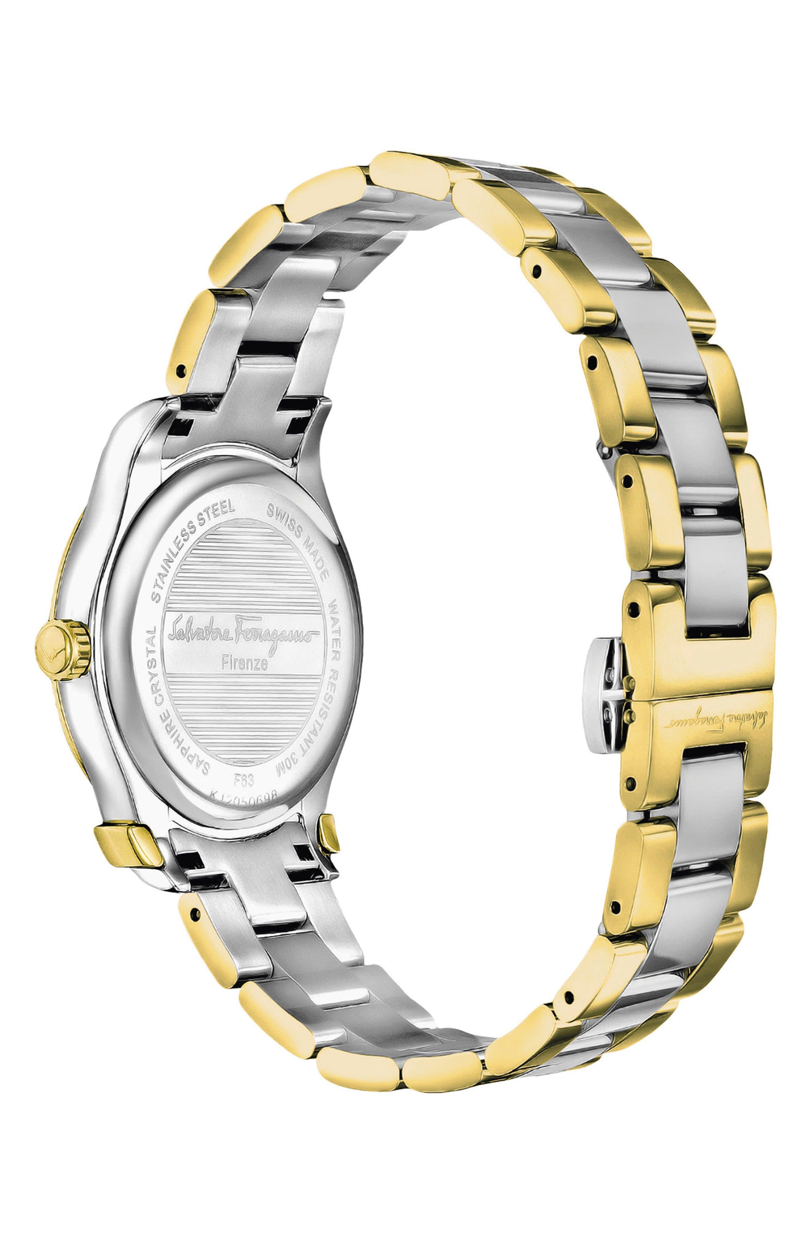 Alternate Image 2  - Salvatore Ferragamo 1898 Bracelet Watch, 33mm