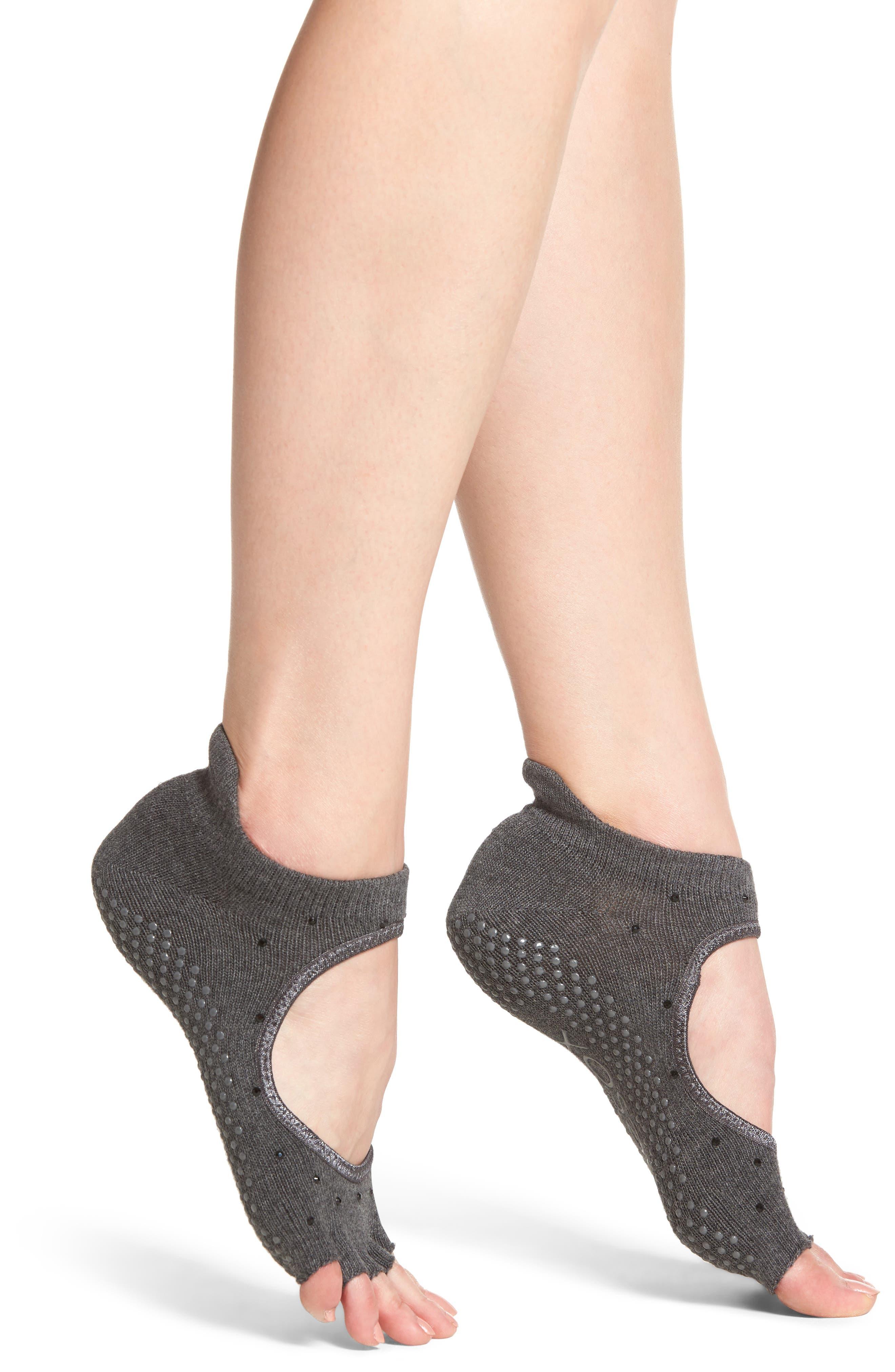 Half Toe Grip Socks,                         Main,                         color, Sultry