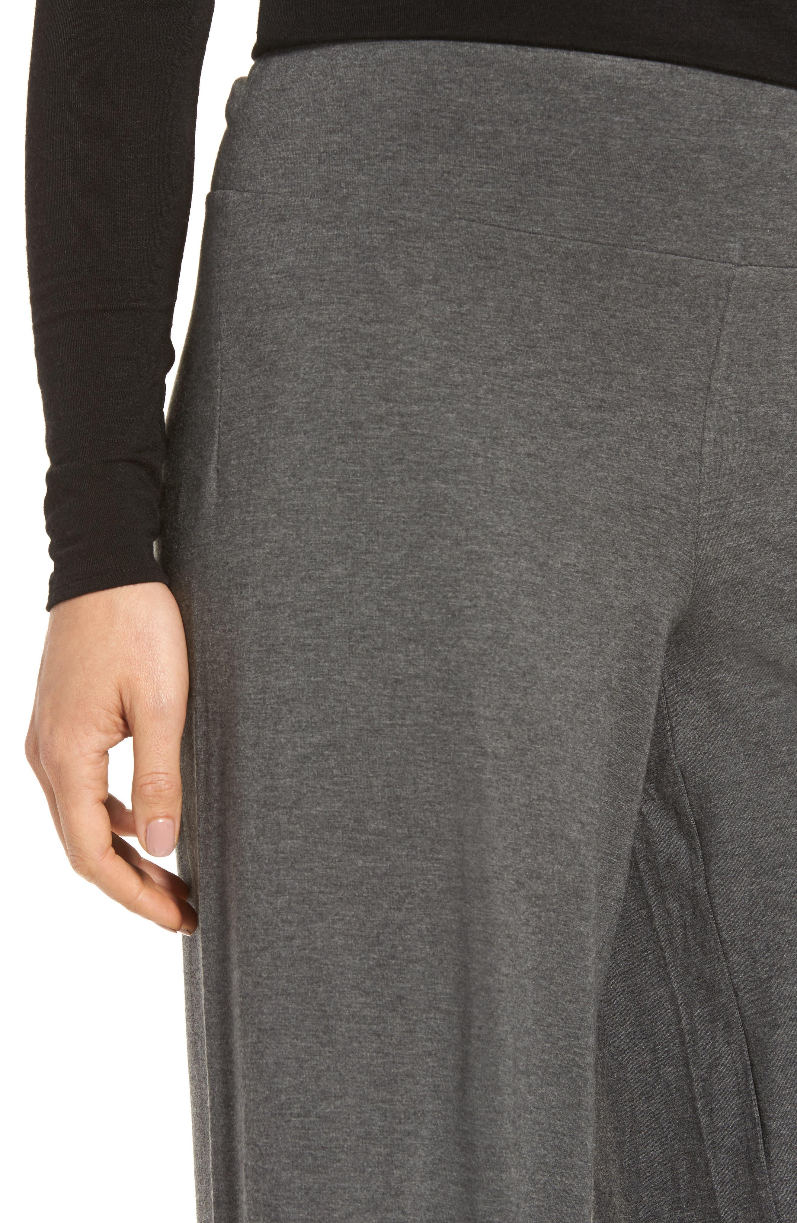 Wide Leg Crop Pants,                             Alternate thumbnail 4, color,                             Ash