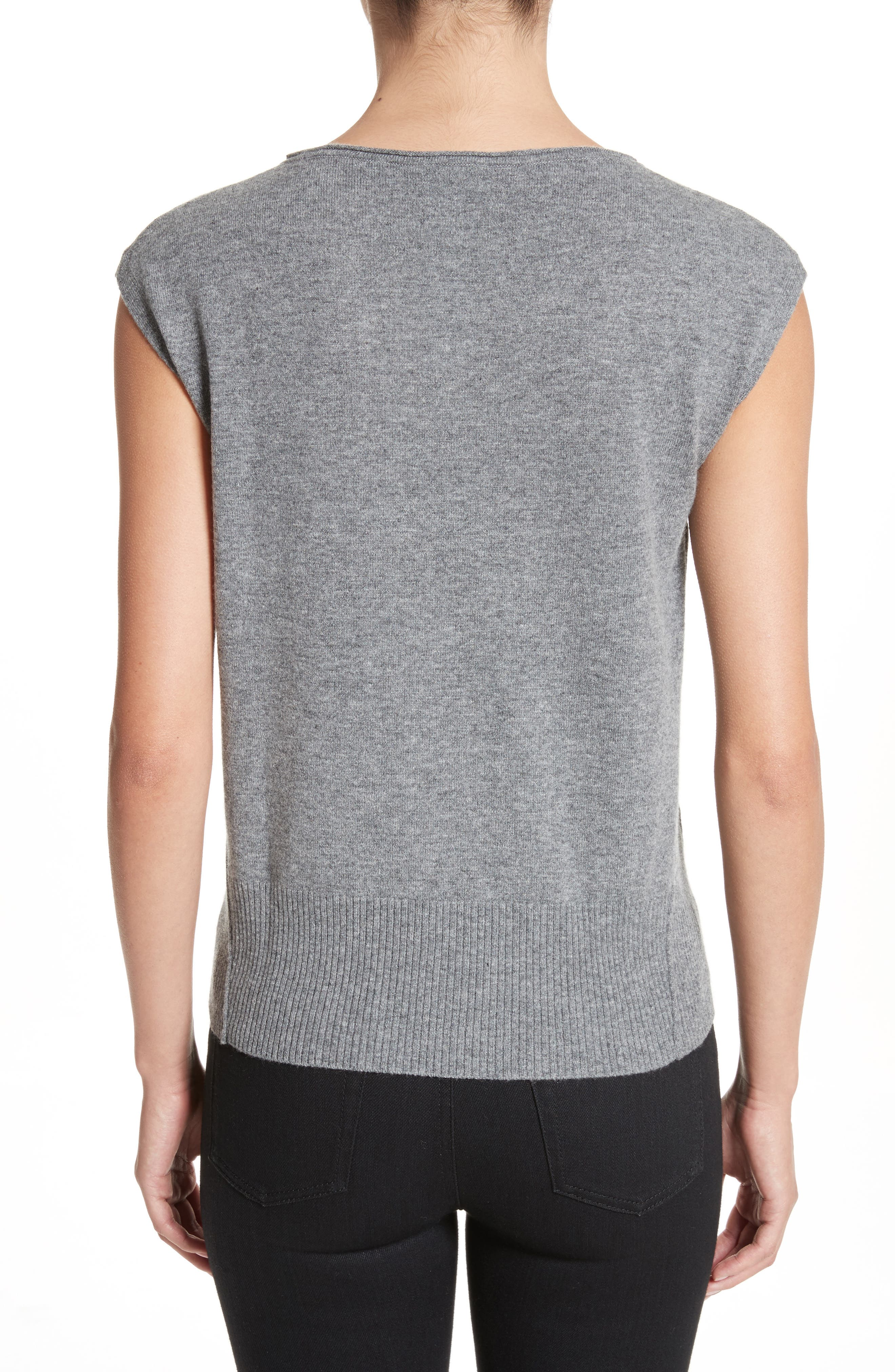 Wool & Cashmere Knit Top,                             Alternate thumbnail 2, color,                             Stone