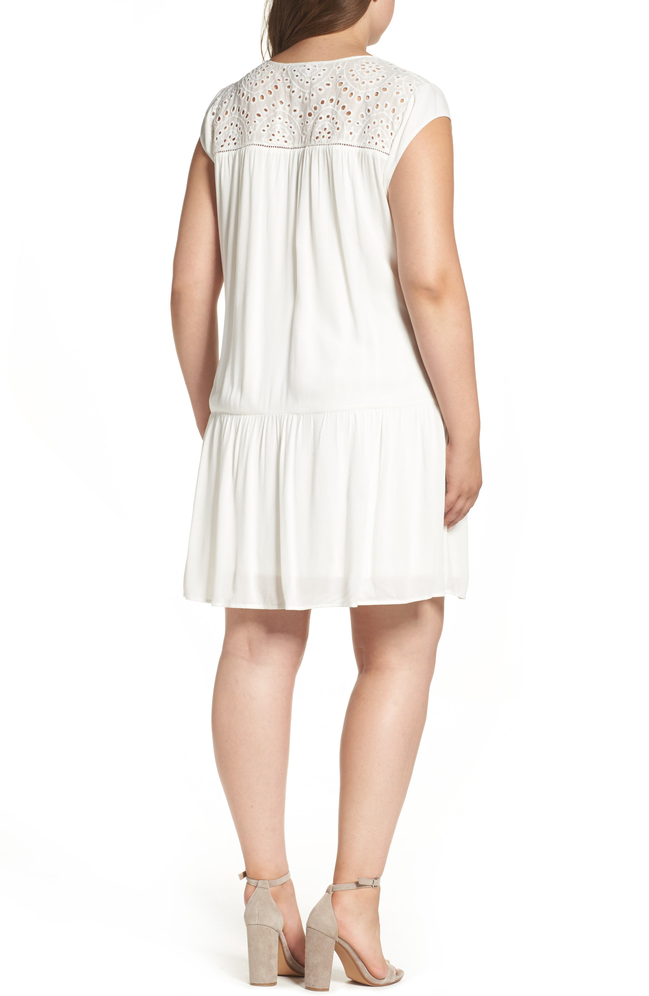 Alternate Image 2  - Daniel Rainn Crochet Trim Dress (Plus Size)