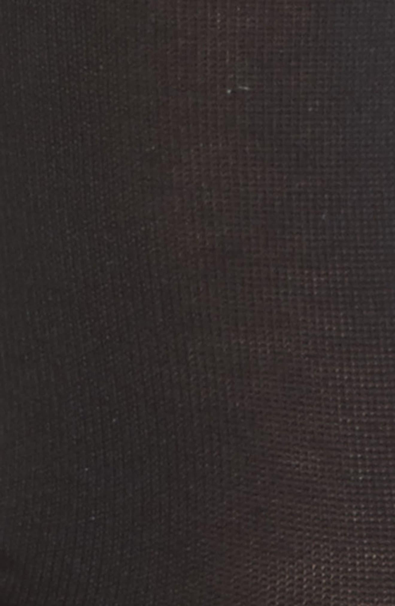 Colorblock Metallic Stripe Crew Socks,                             Alternate thumbnail 2, color,                             Black W/Gold