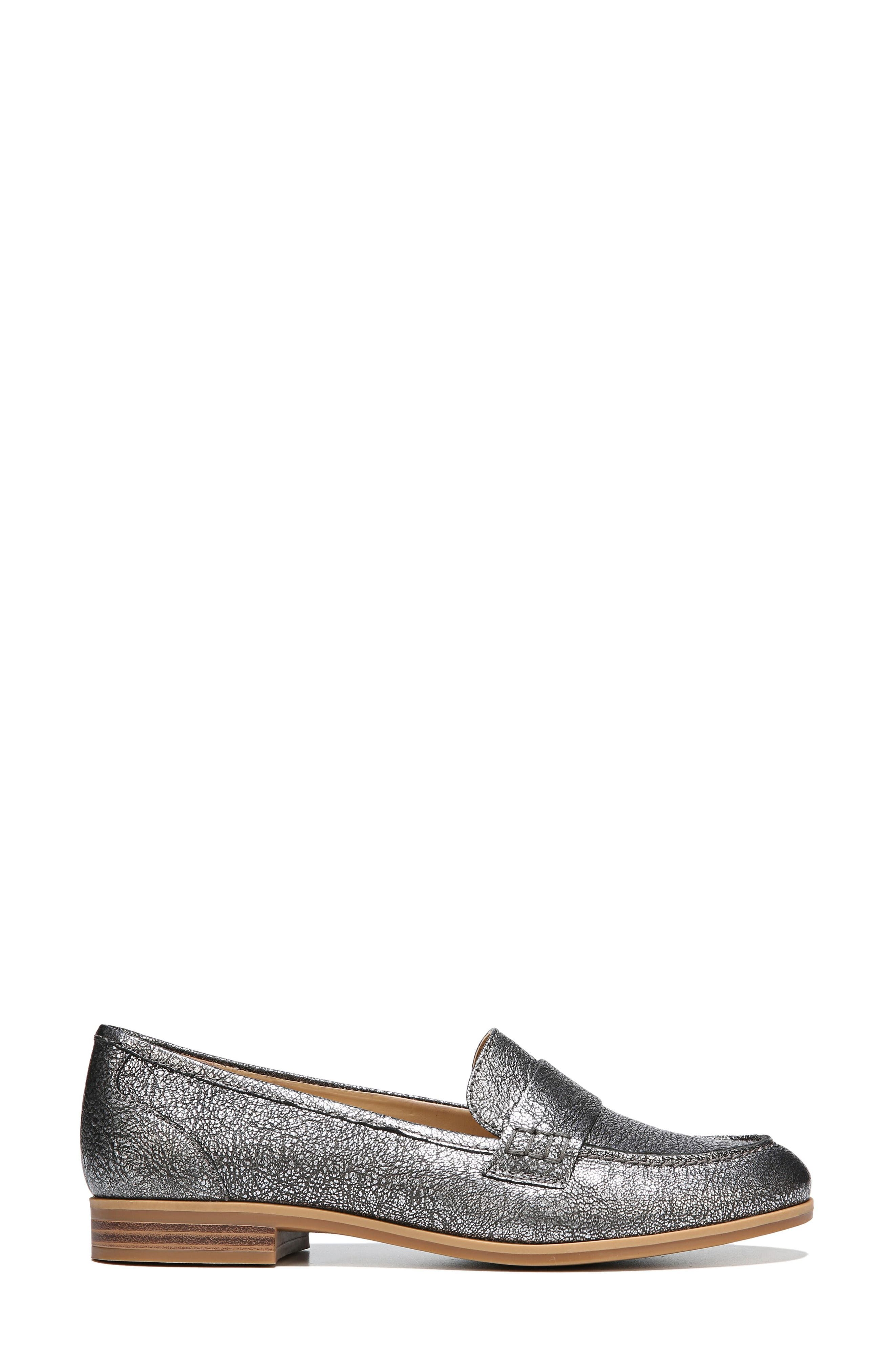 Veronica Loafer,                             Alternate thumbnail 3, color,                             Silver Leather