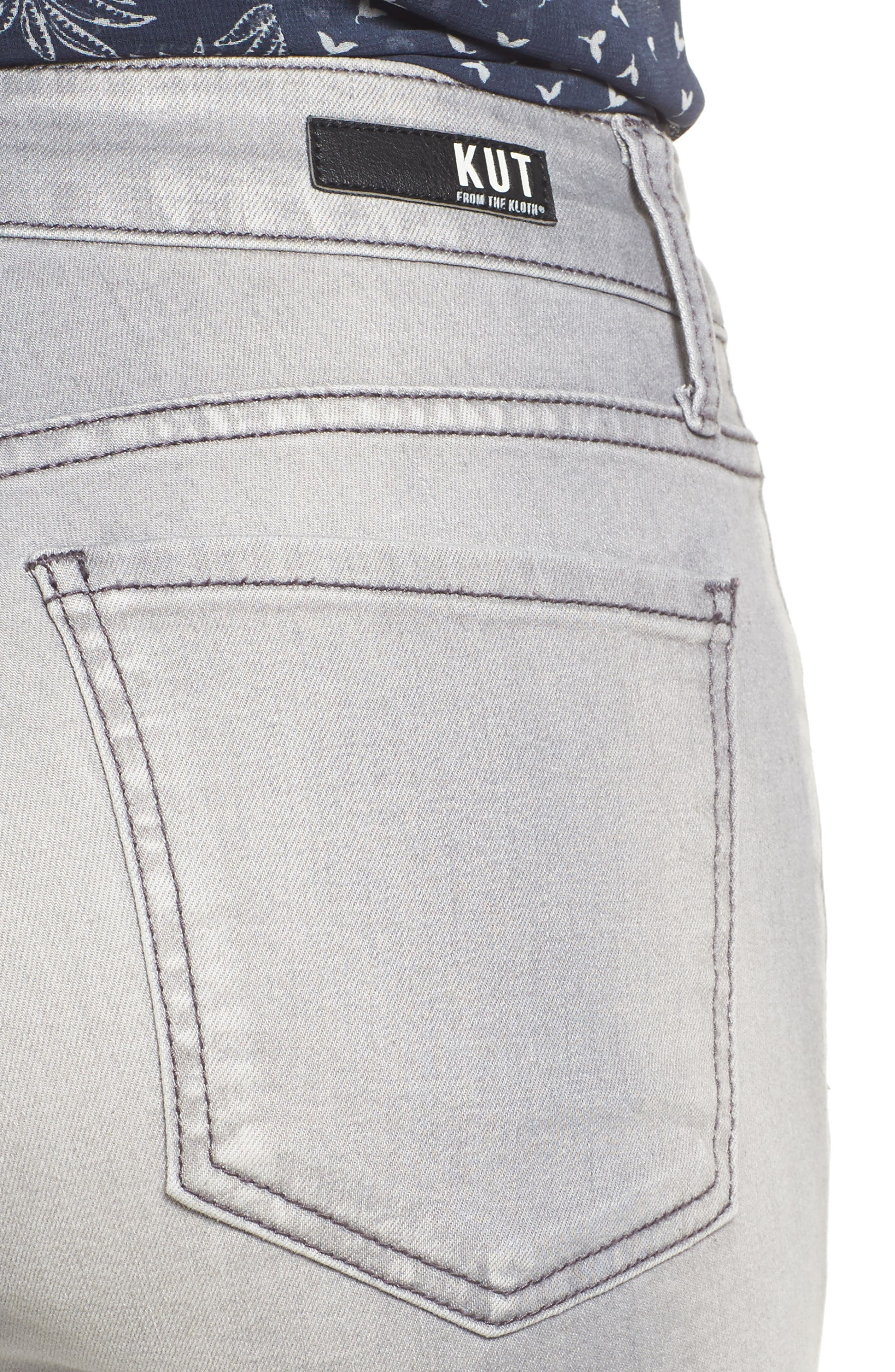 Alternate Image 4  - Kut from the Kloth Mia Skinny Jeans (Prevailed)