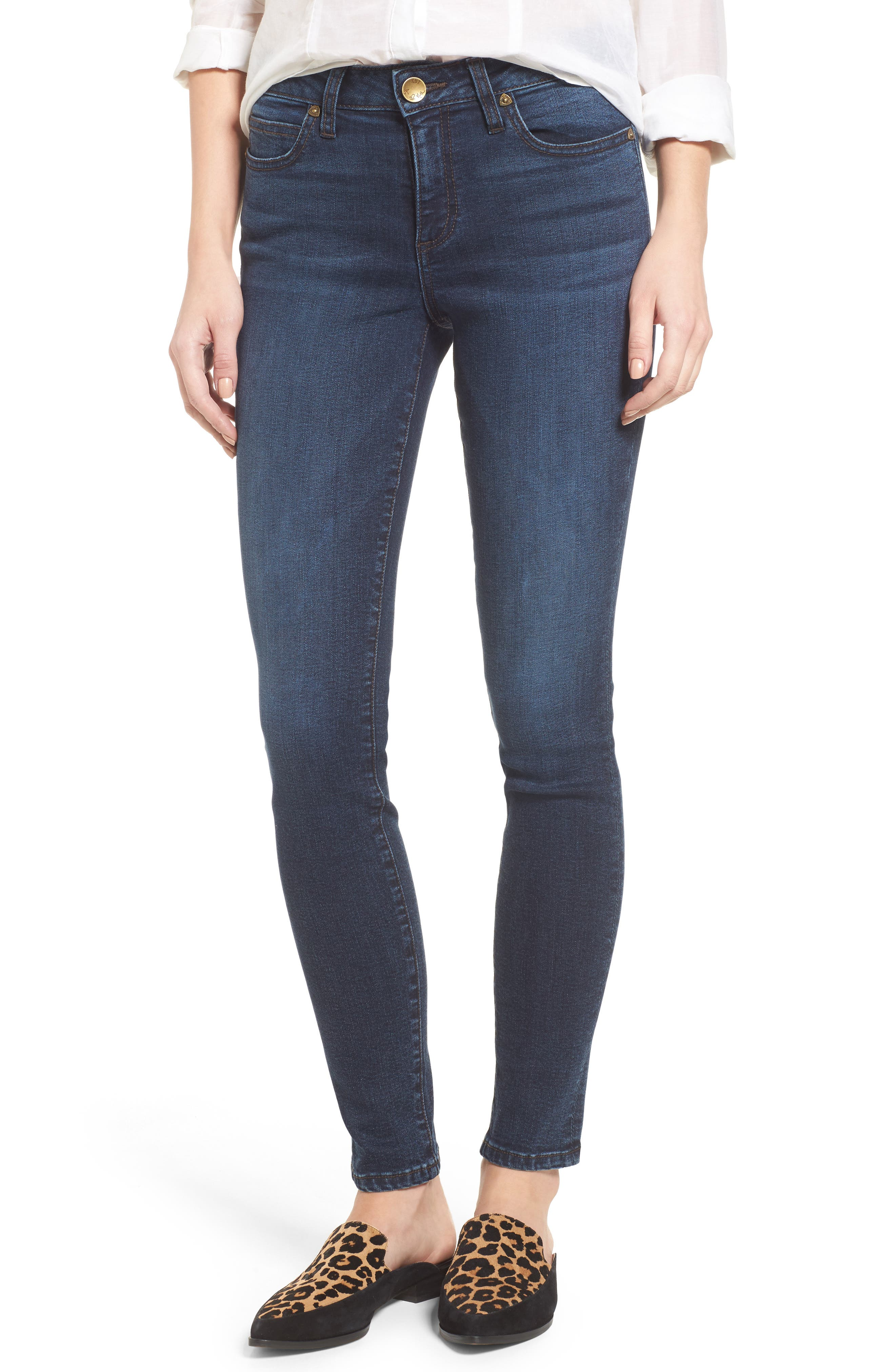 KUT from the Kloth Diana Curvy Fit Skinny Jeans (Saintly) (Regular & Petite)
