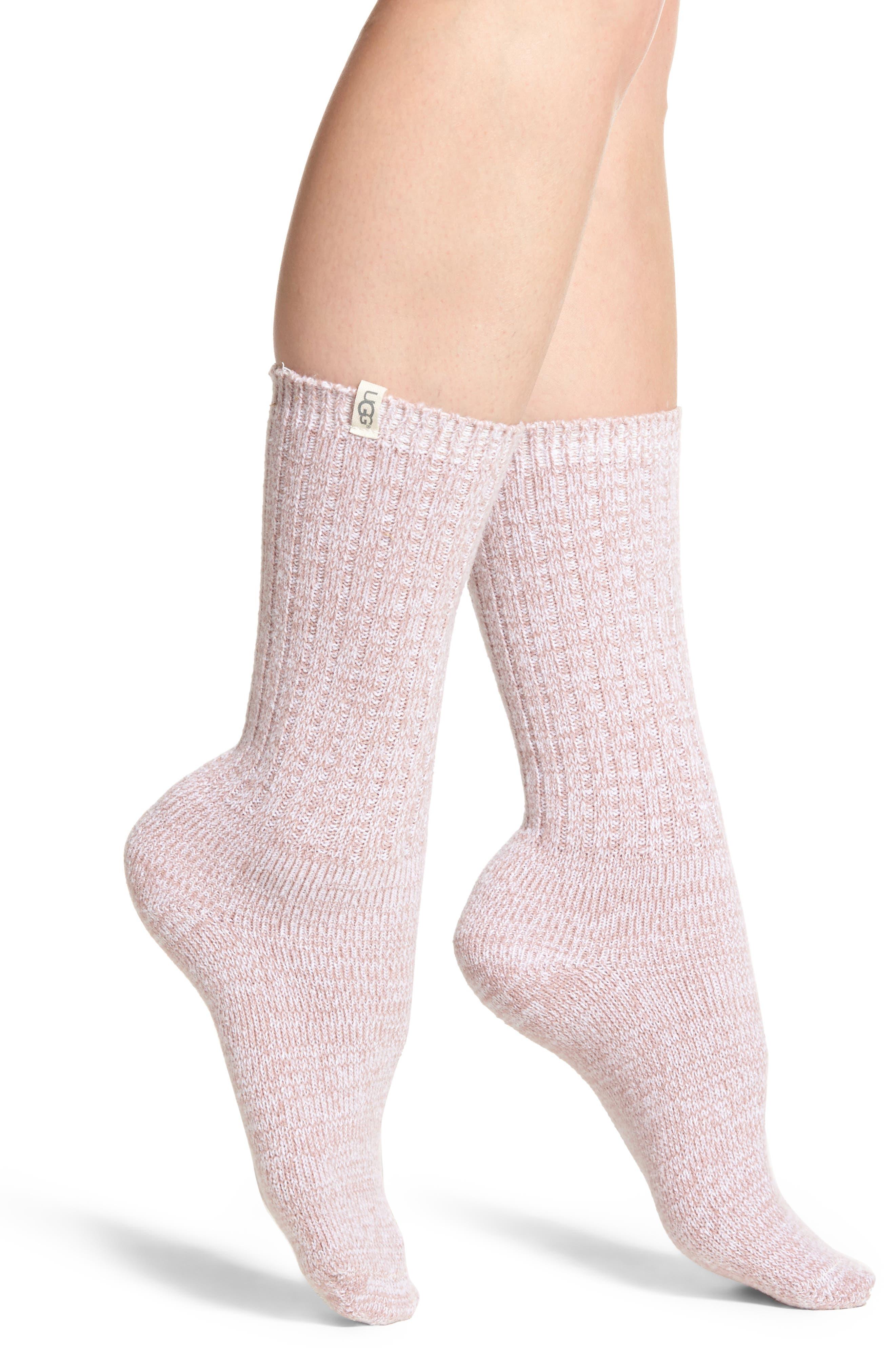 Ribbed Crew Socks,                         Main,                         color, Dusk