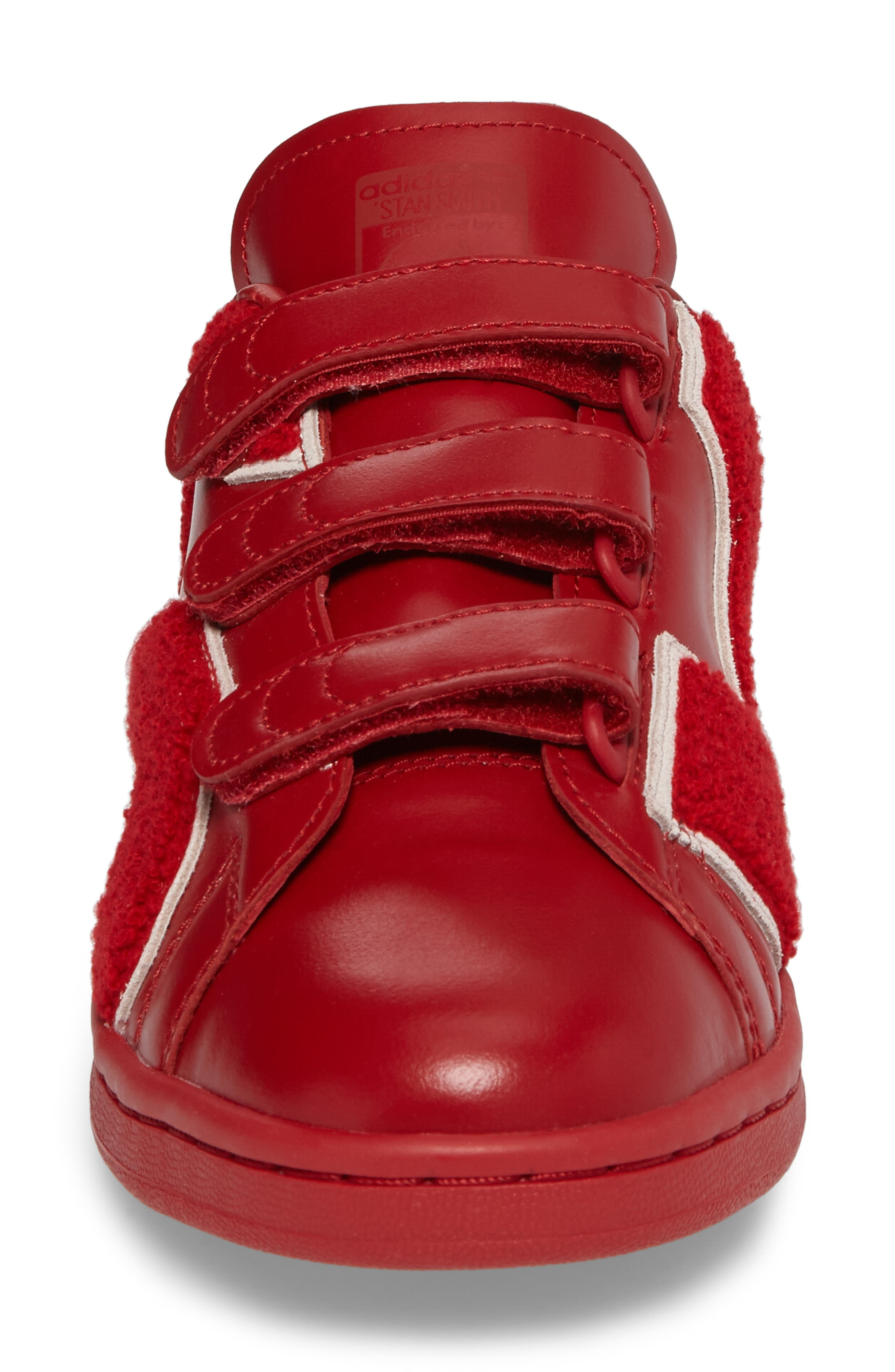Stan Smith Sneaker,                             Alternate thumbnail 4, color,                             Powder Red