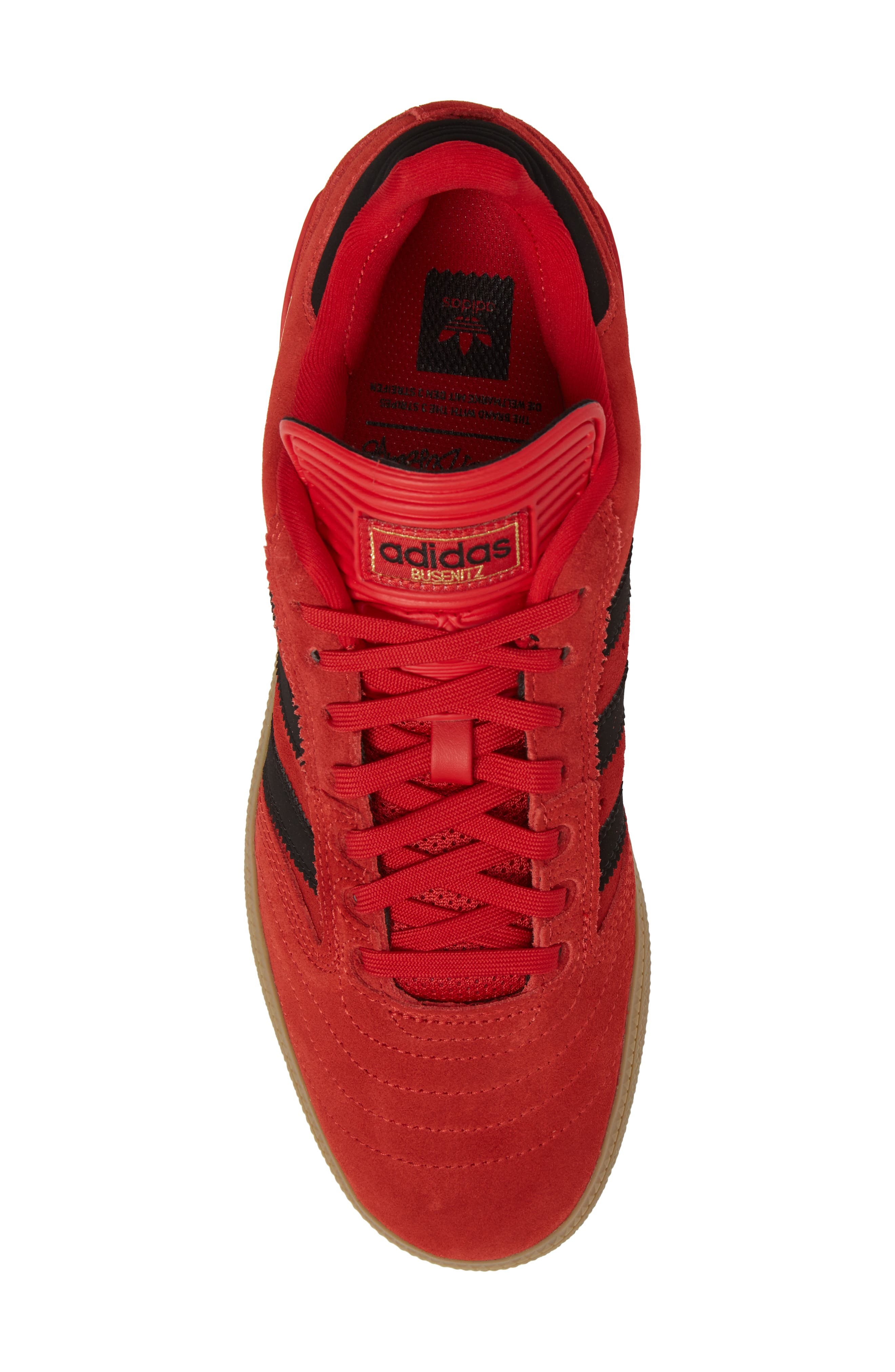 Busenitz Sneaker,                             Alternate thumbnail 5, color,                             Scarlet/ Core Black/ Gum4