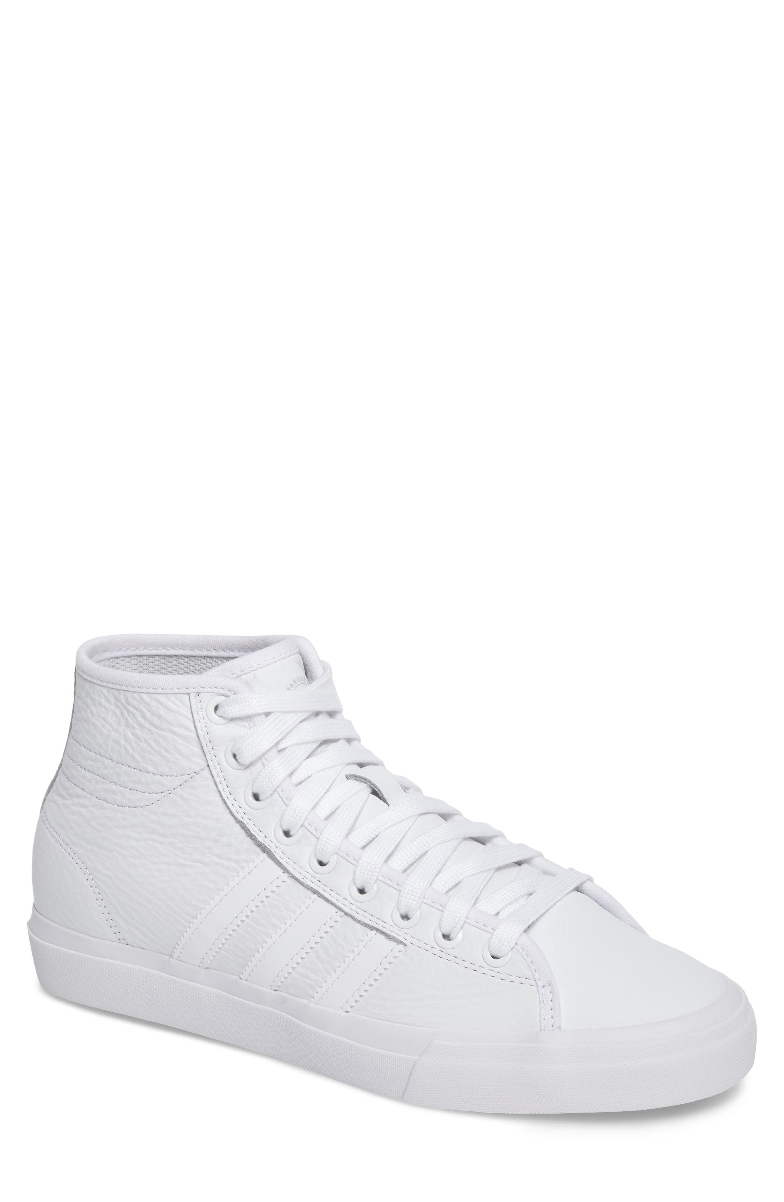 Matchcourt High Top Sneaker,                         Main,                         color, White/ White/ White