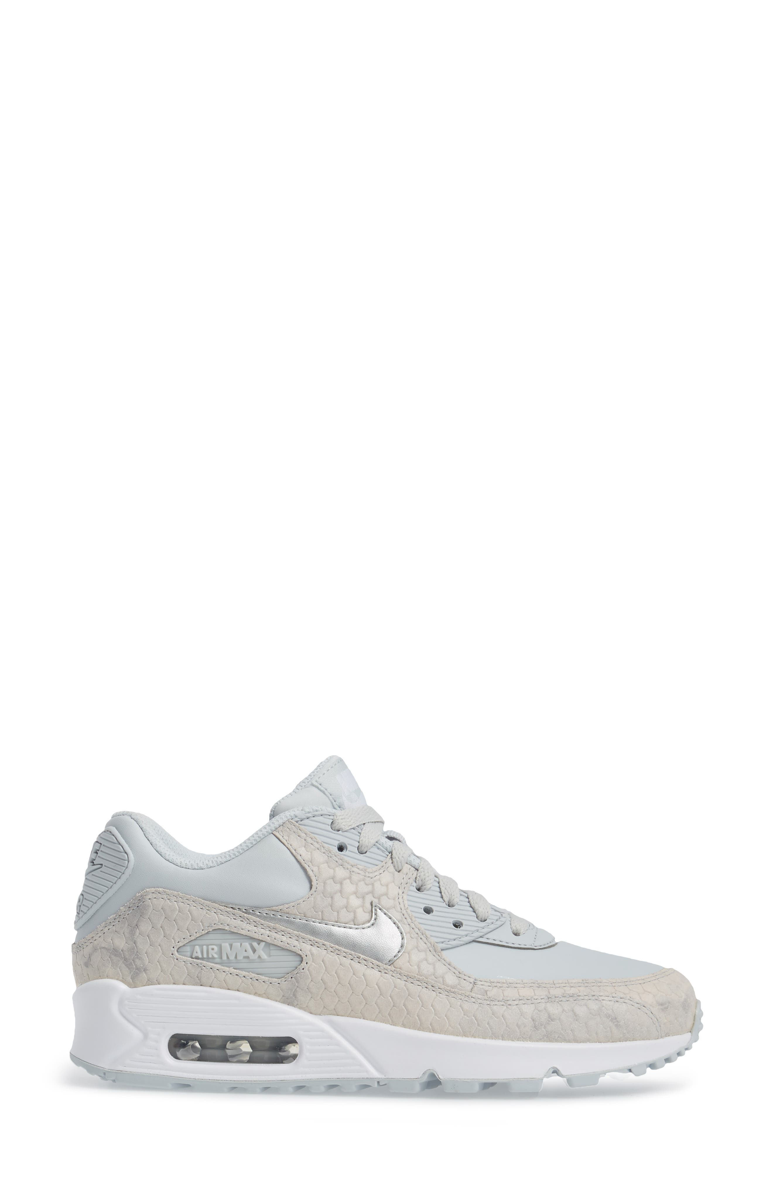 Alternate Image 3  - Nike Air Max 90 Embossed Premium Sneaker (Women)
