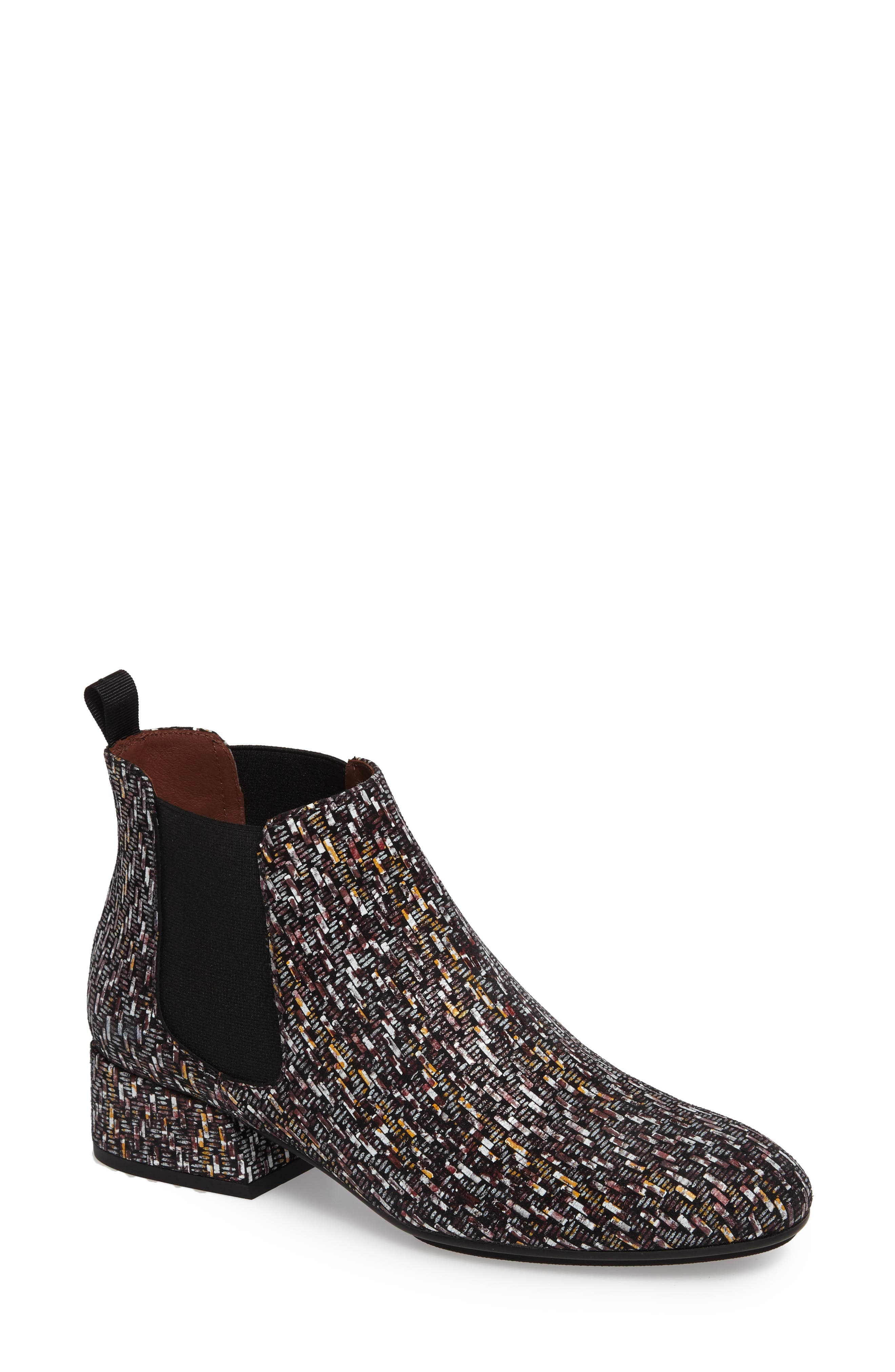 Ellys Patterned Chelsea Bootie,                         Main,                         color, Bordo Leather