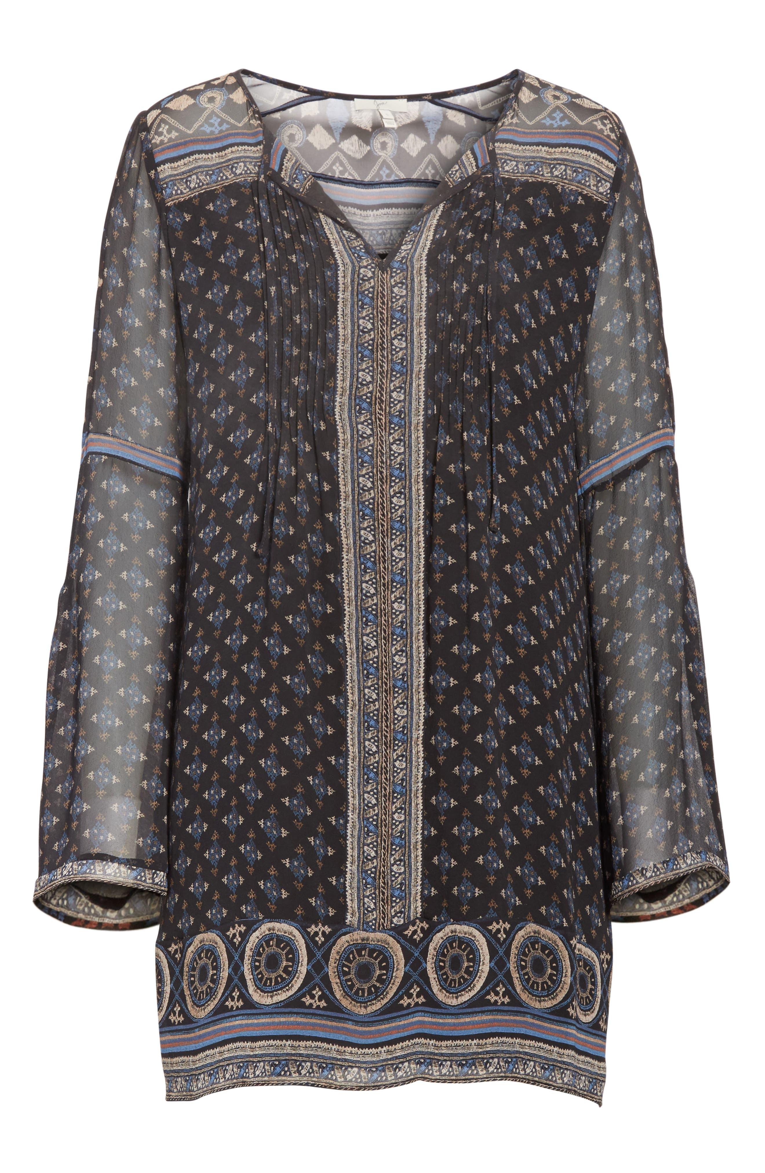 Alternate Image 6  - Joie Sheyla Print Silk Shift Dress