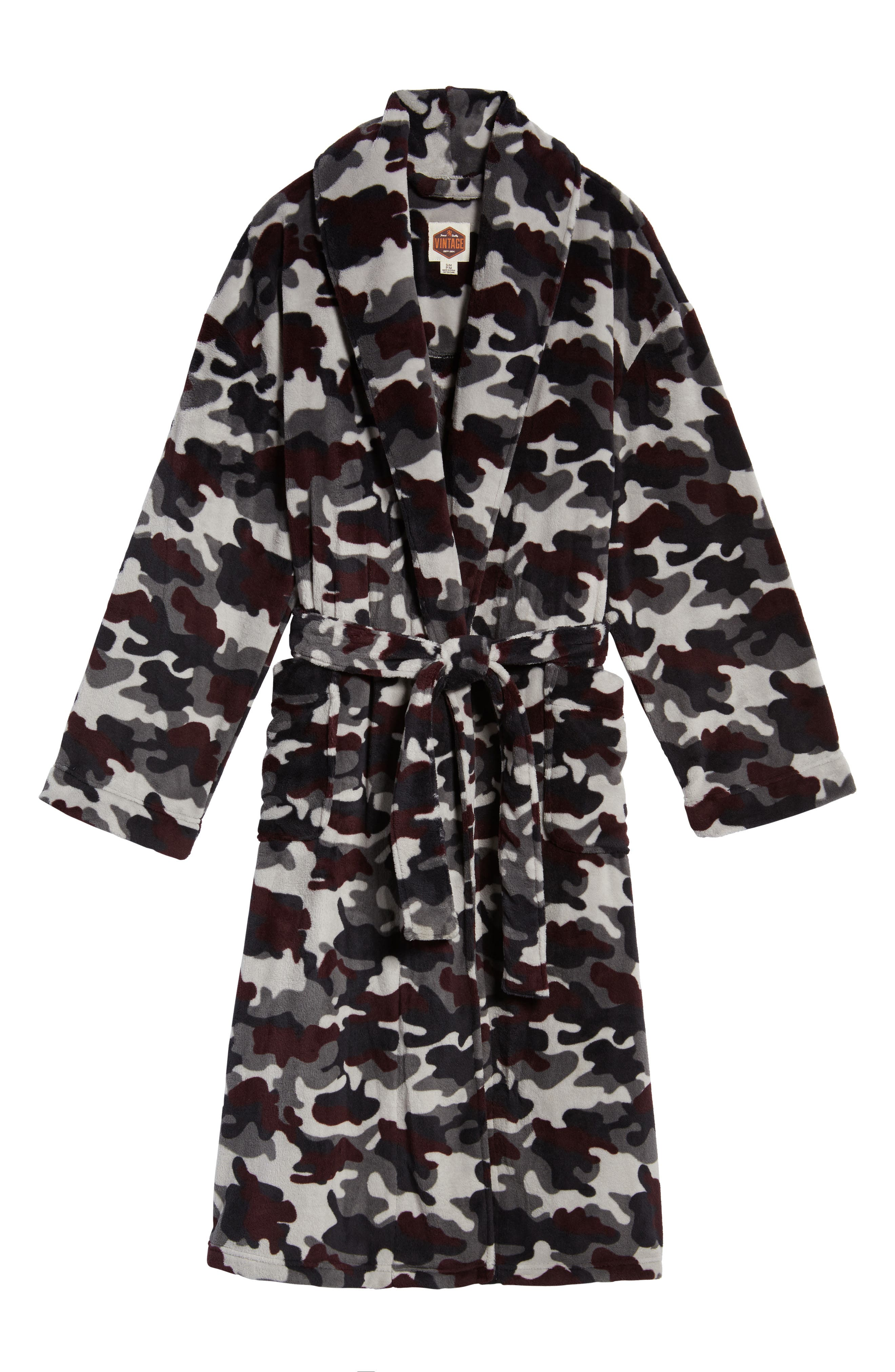 Cold Conquest Robe,                             Alternate thumbnail 6, color,                             Charcoal Camo