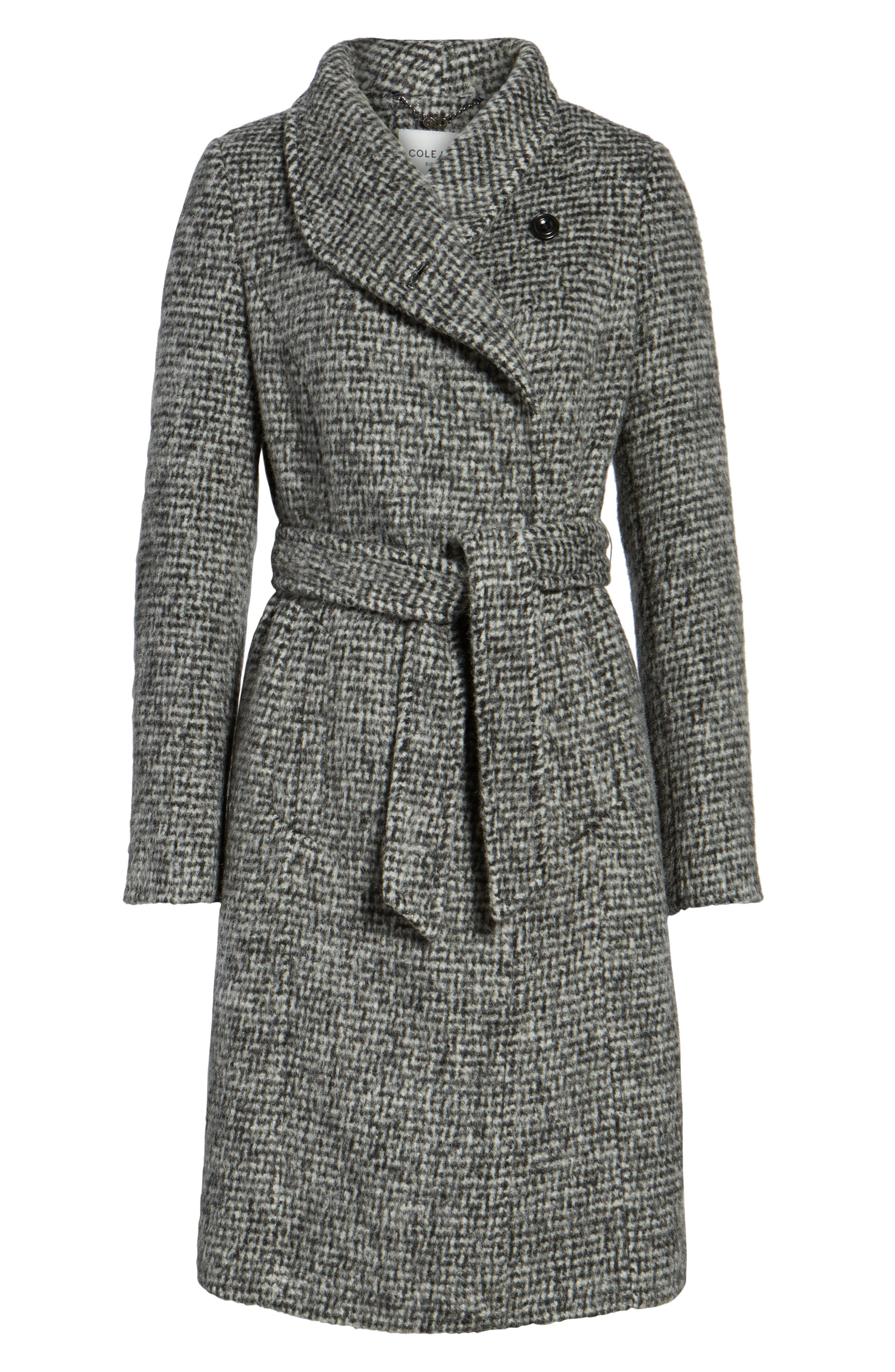 Alternate Image 6  - Cole Haan Signature Wool Shawl Collar Wrap Coat