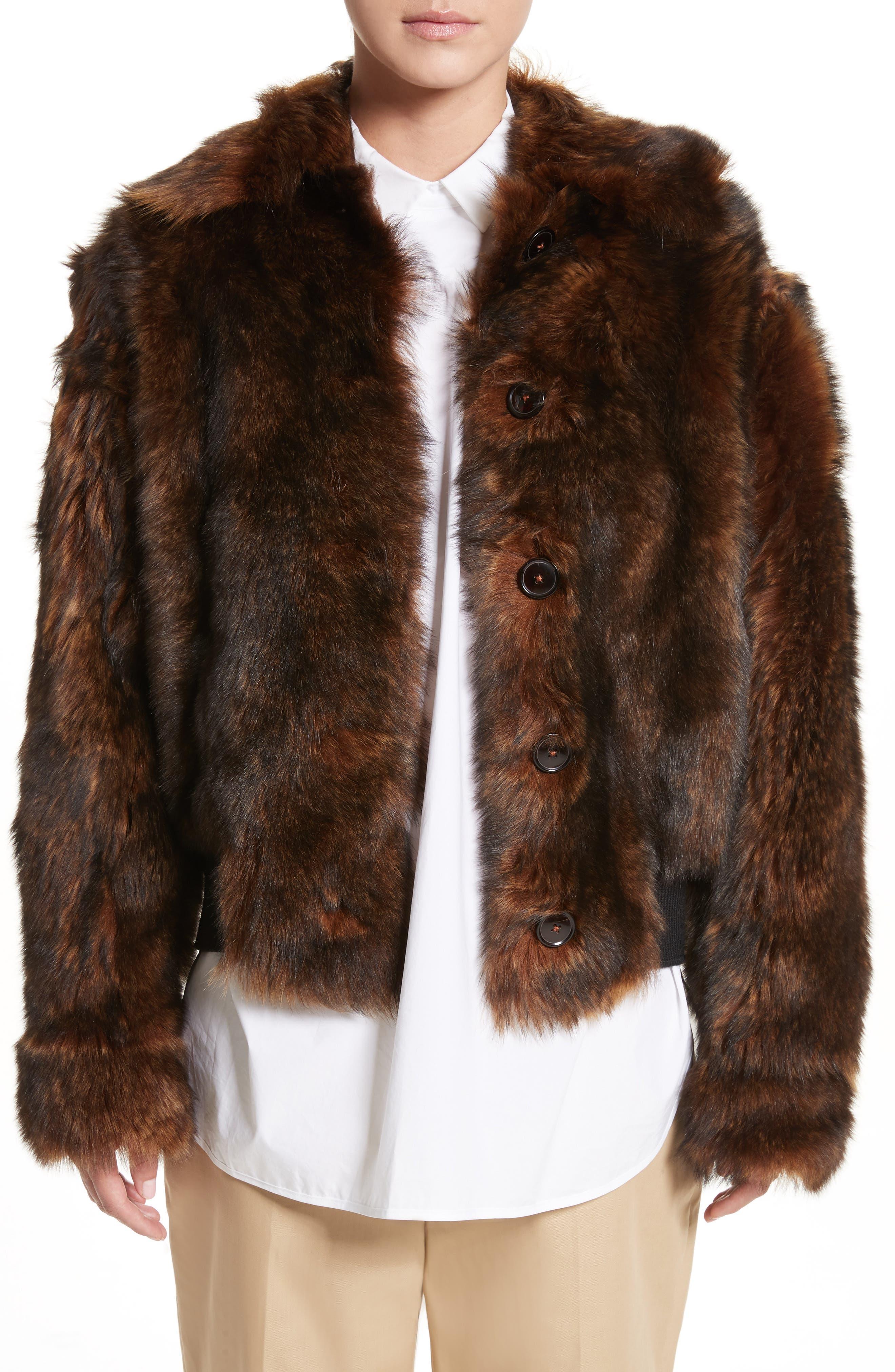 Genuine Shearling Jacket,                         Main,                         color, Fox