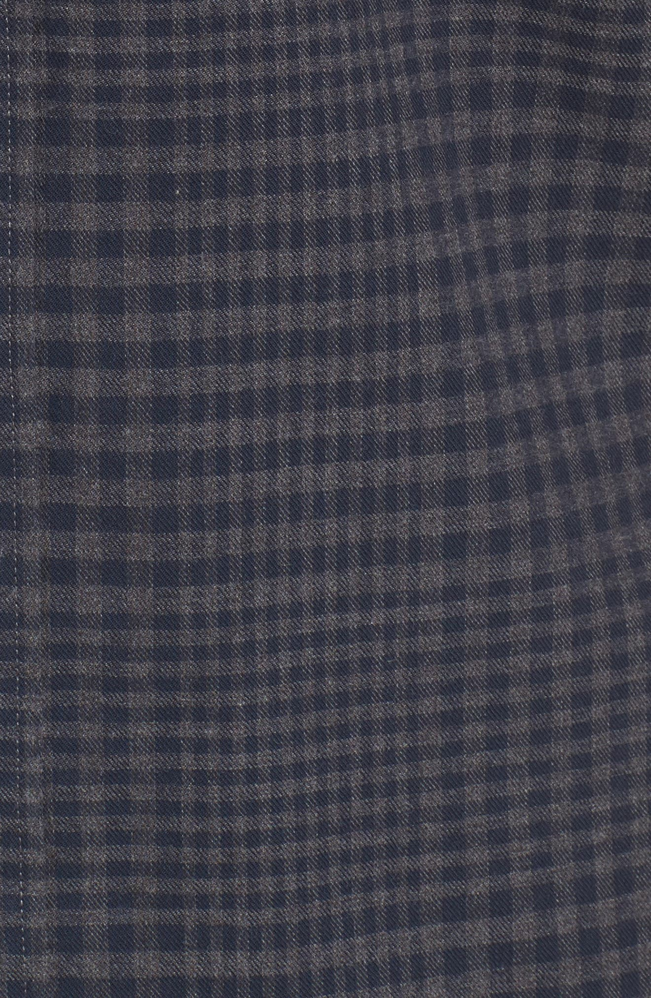 Alternate Image 5  - Nordstrom Men's Shop Slim Fit Washed Glen Plaid Sport Shirt