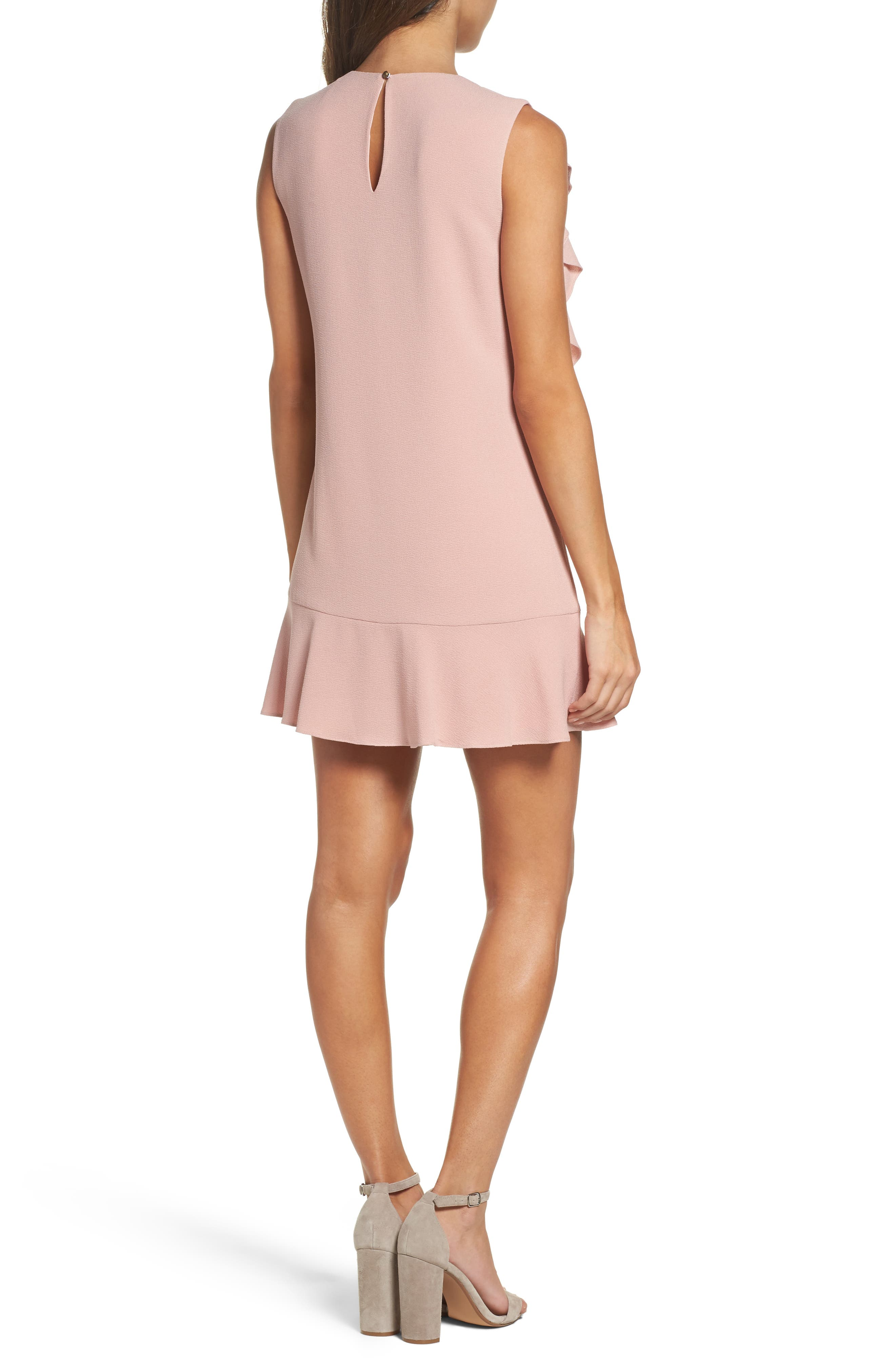 Ruffle Shift Dress,                             Alternate thumbnail 2, color,                             Blush