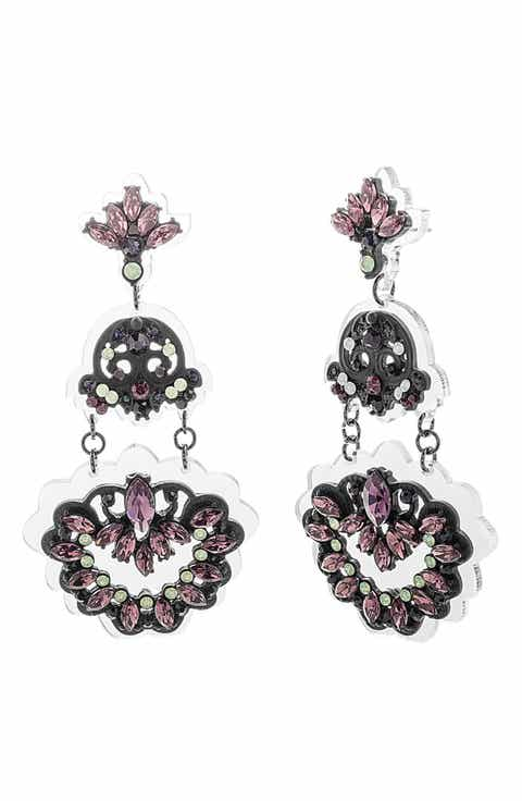 Women\'s Black Chandelier Earrings | Nordstrom