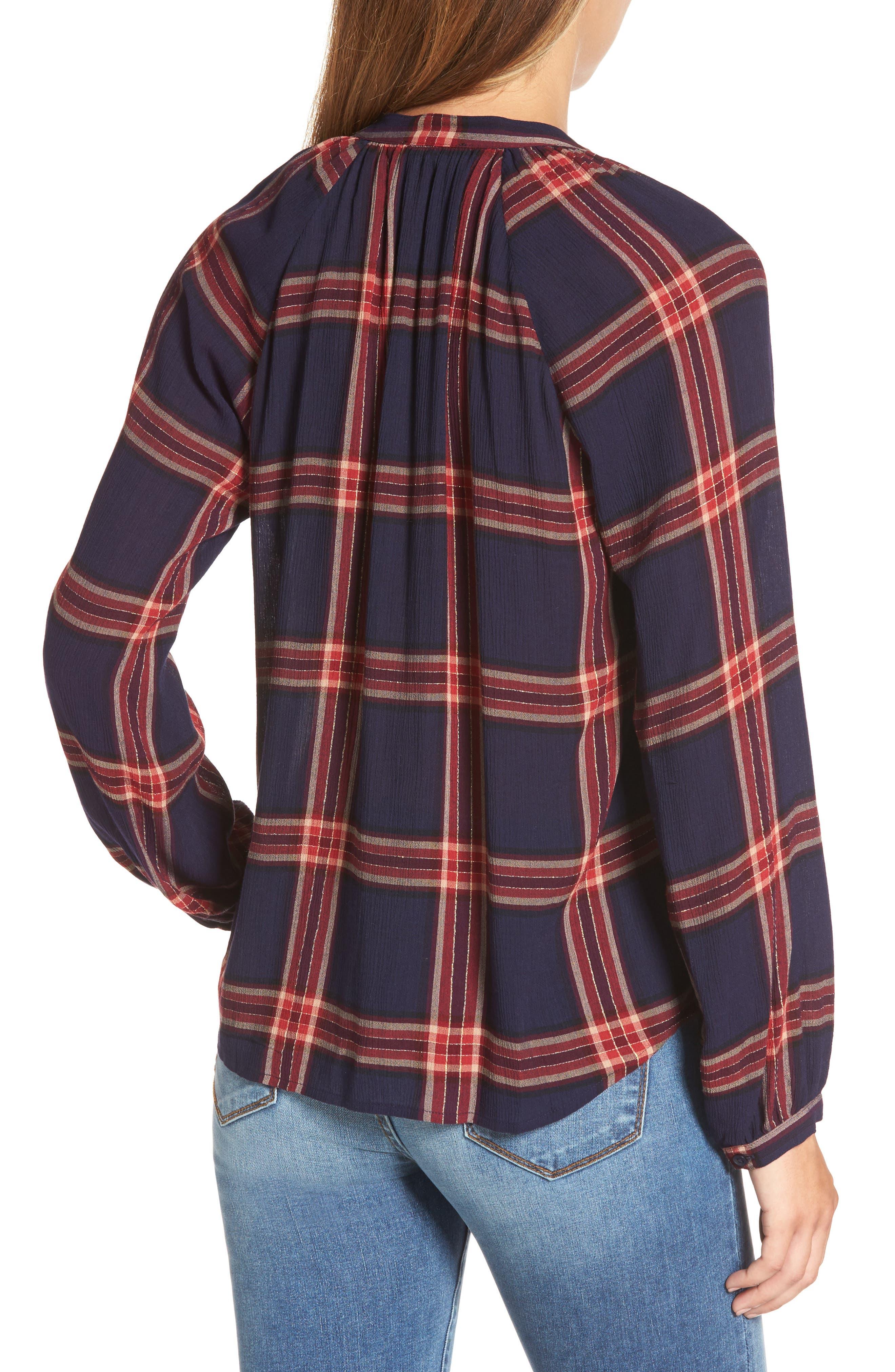 Plaid Shirt,                             Alternate thumbnail 2, color,                             Navy Multi