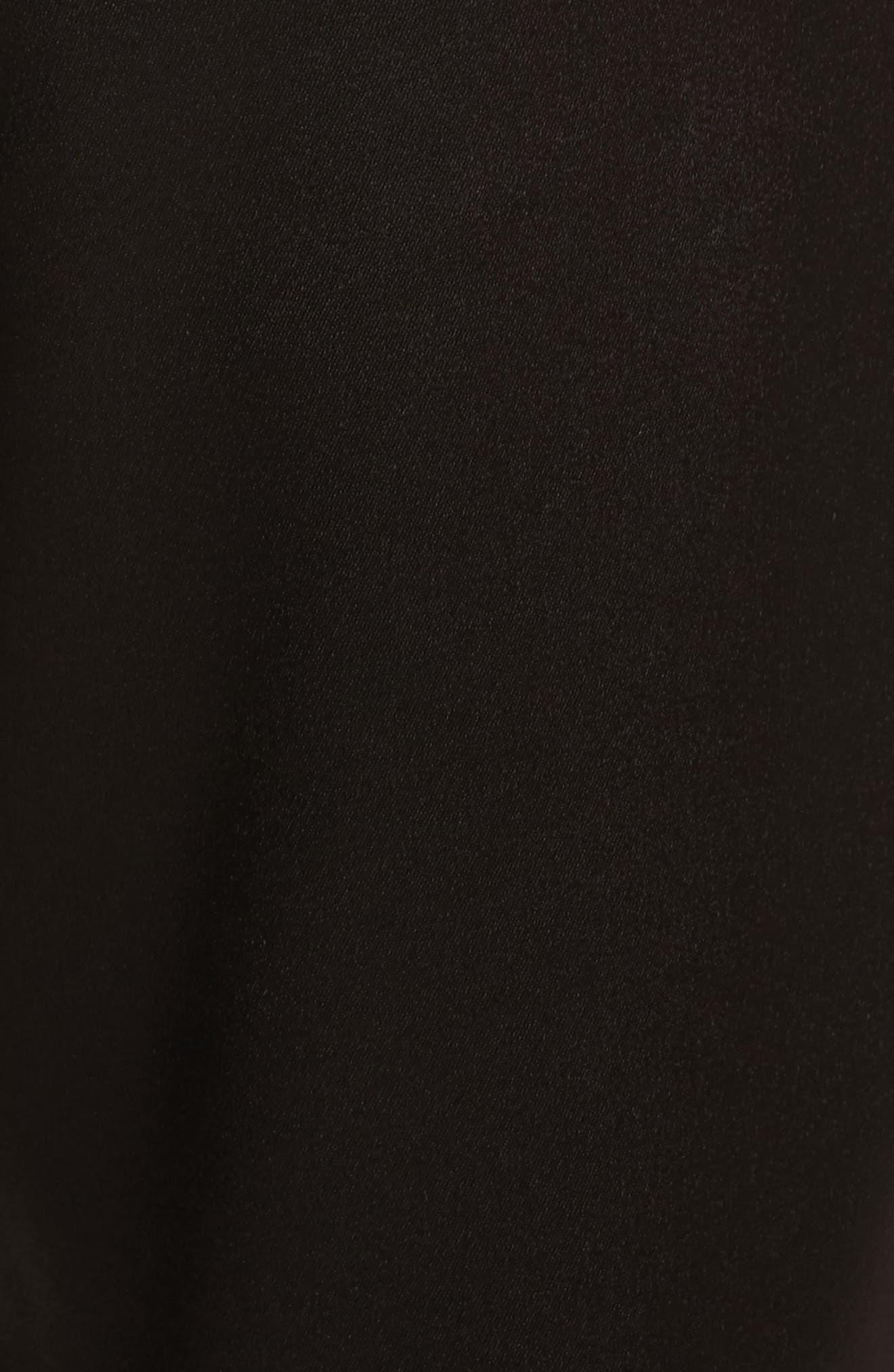 Pete Embellished Side Jogger Pants,                             Alternate thumbnail 5, color,                             Black