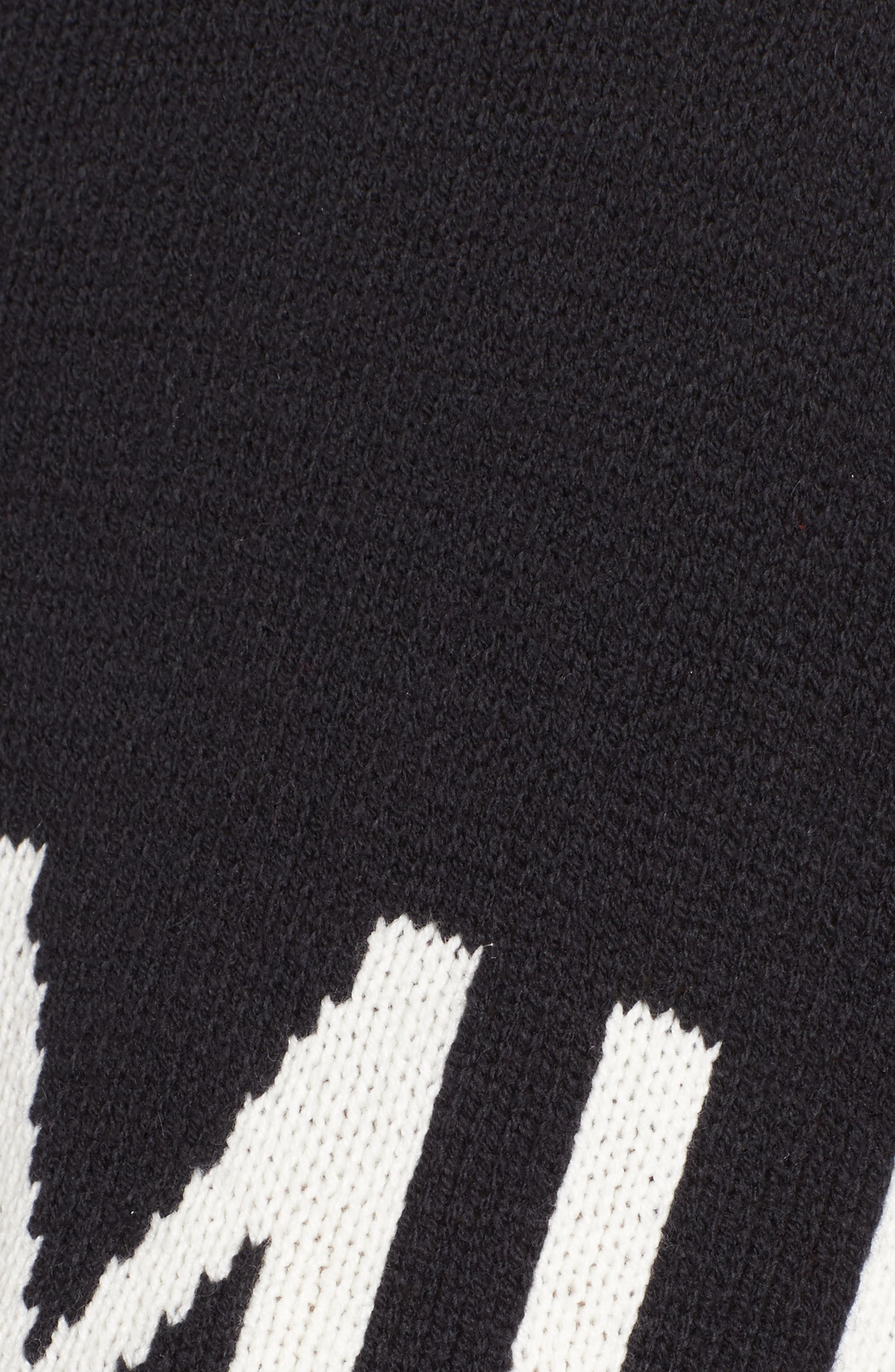 Crop Varsity Sweater,                             Alternate thumbnail 5, color,                             Mumu Stripe Black