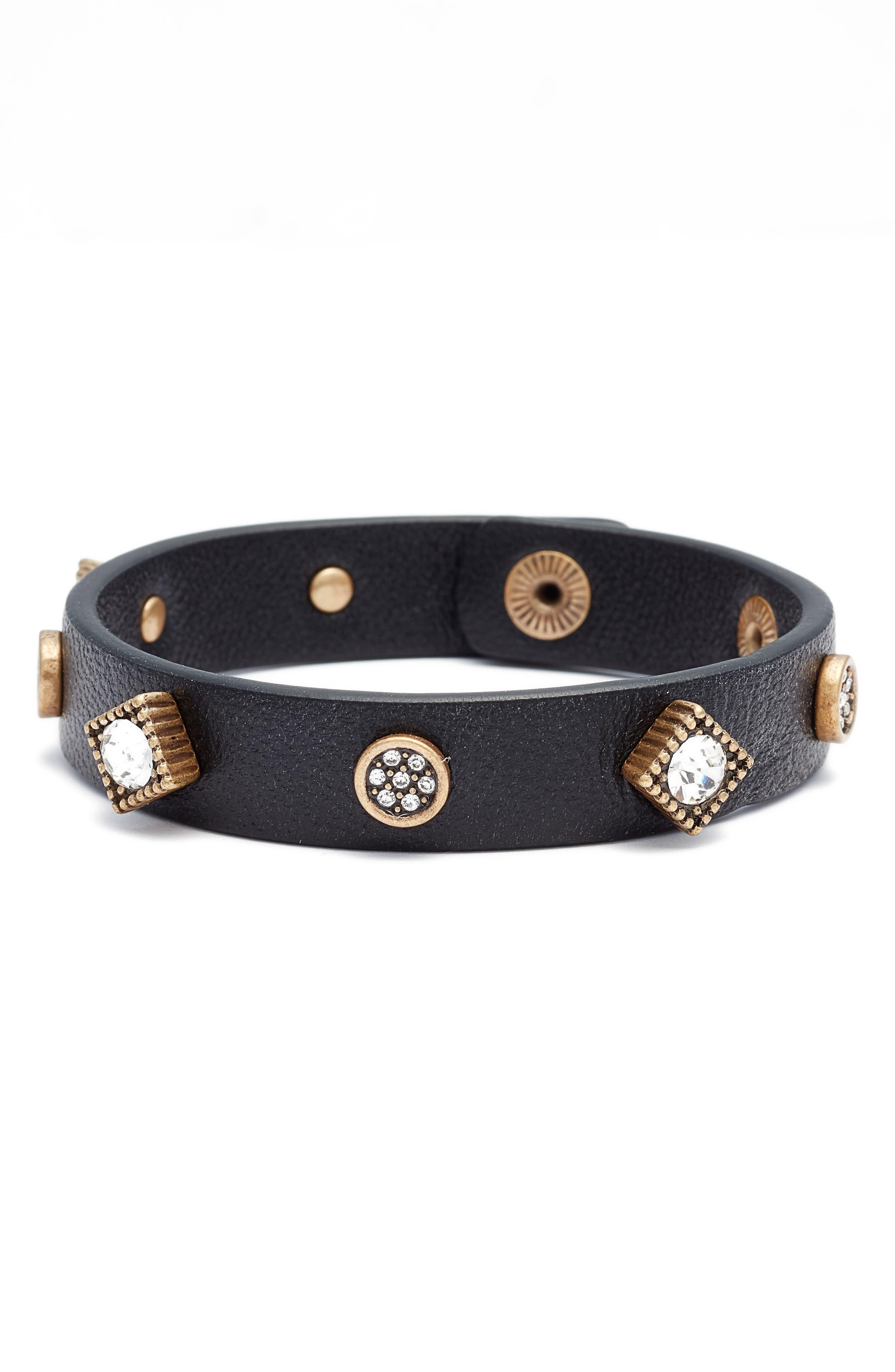 Alternate Image 1 Selected - Treasure & Bond Leather Bracelet