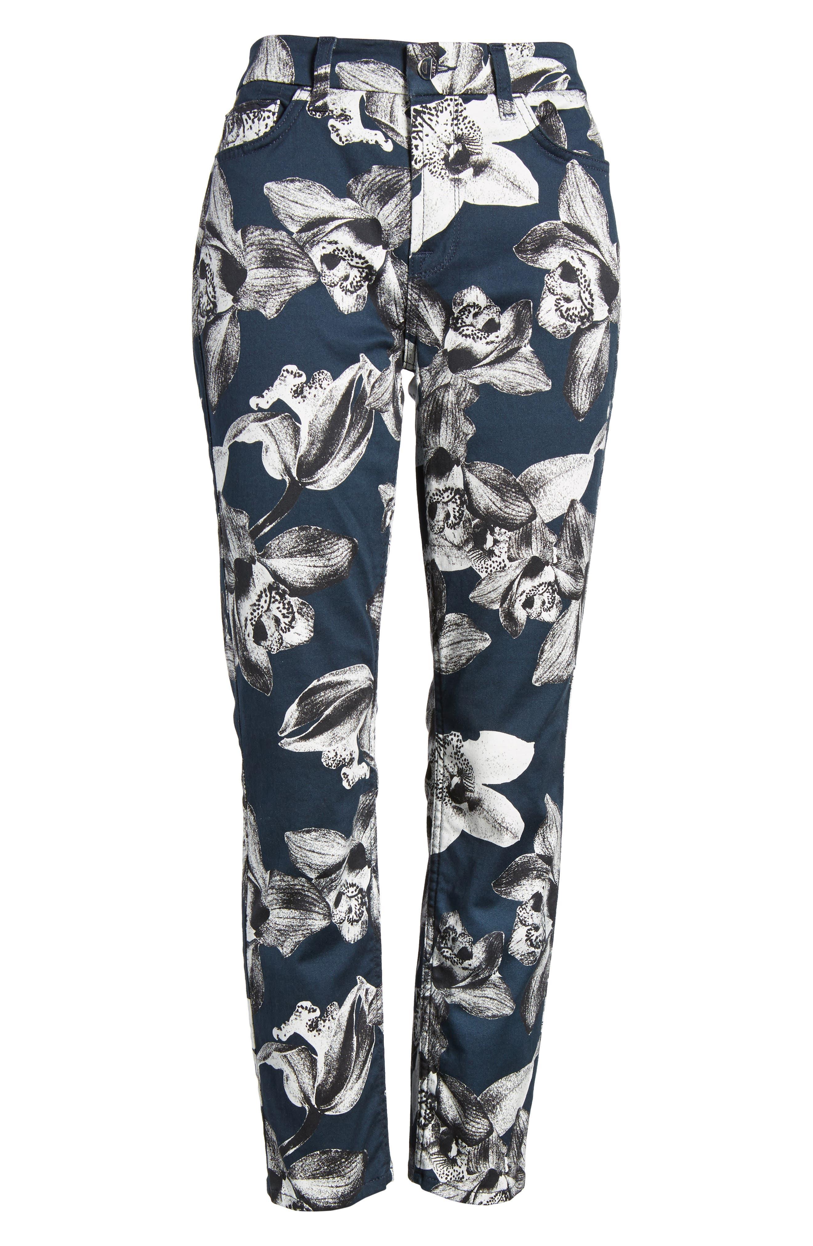 Alternate Image 6  - Jen7 Print Crop Skinny Jeans