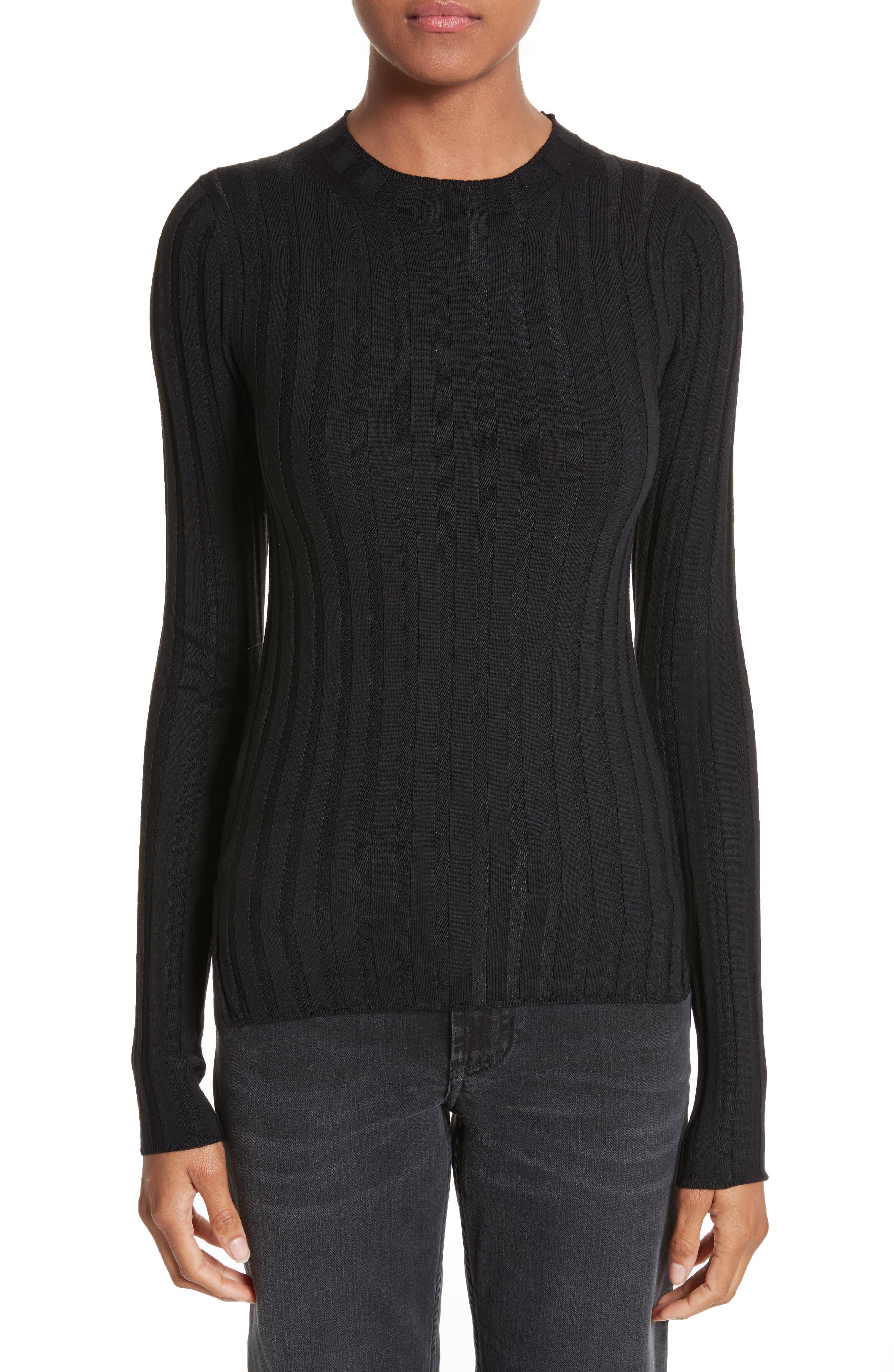 Main Image - ACNE Studios Carina Fitted Crewneck Sweater