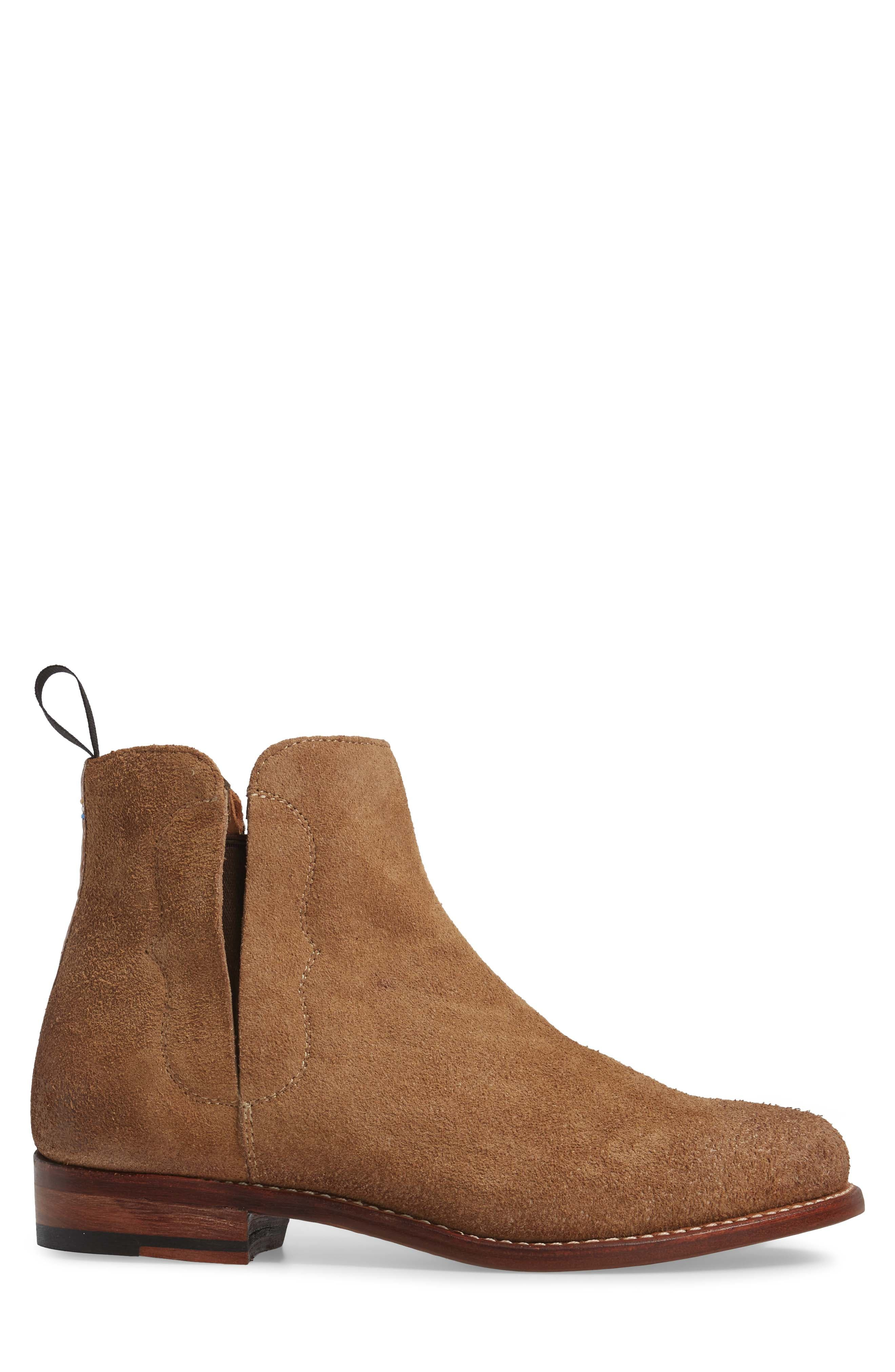 Ariat Maxwell Chelsea Boot,                             Alternate thumbnail 3, color,                             Amaretto Suede
