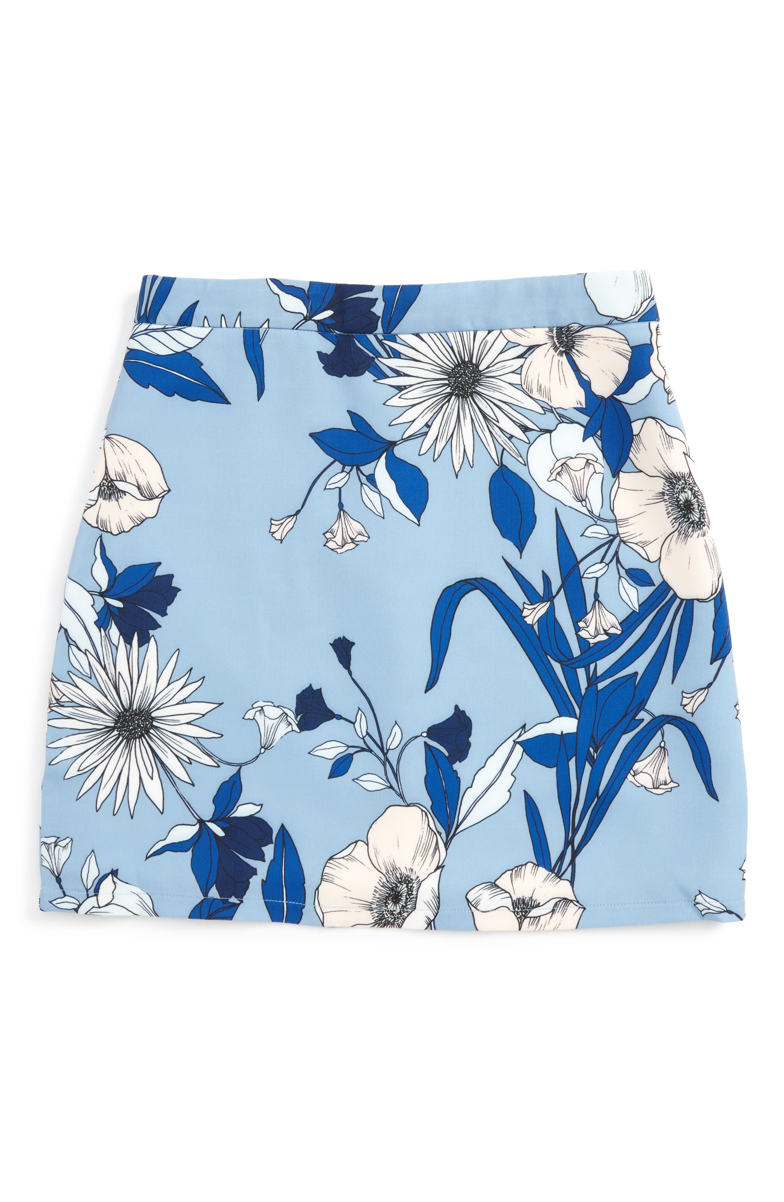 Maia Floral Skirt,                             Main thumbnail 1, color,                             Botanica Bloom