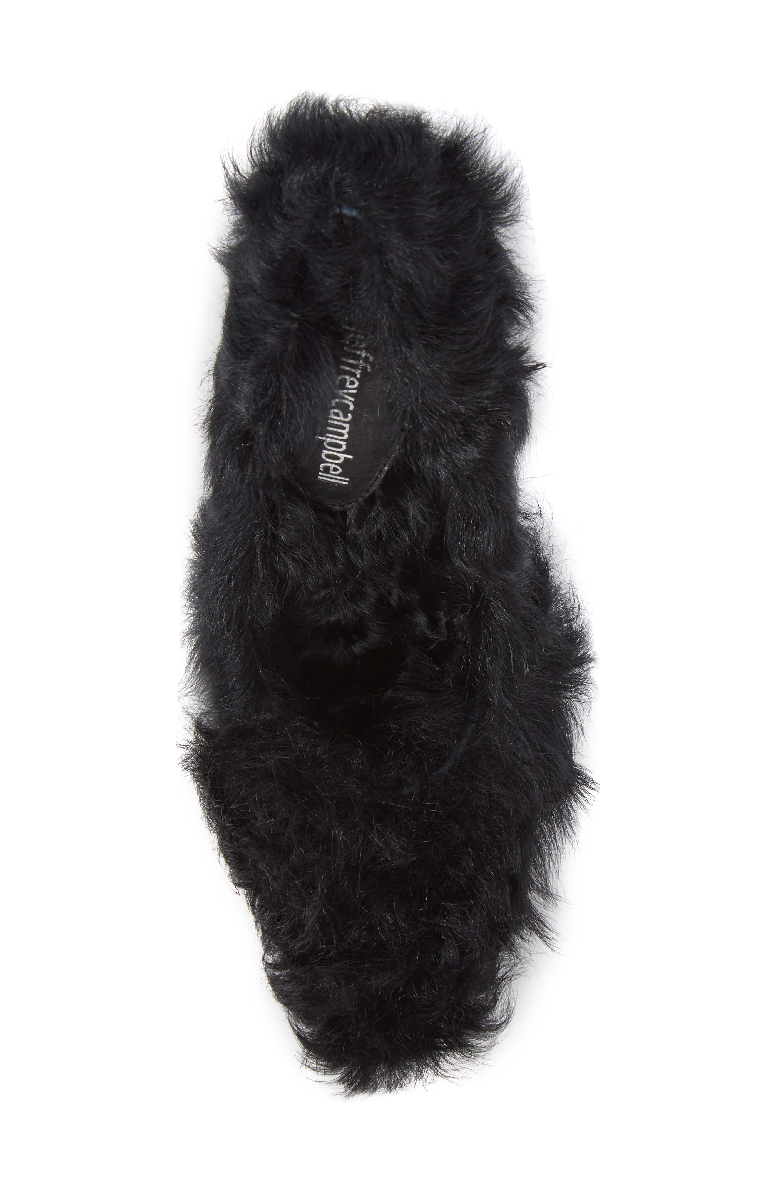 Ikon Genuine Shearling Pump,                             Alternate thumbnail 5, color,                             Black