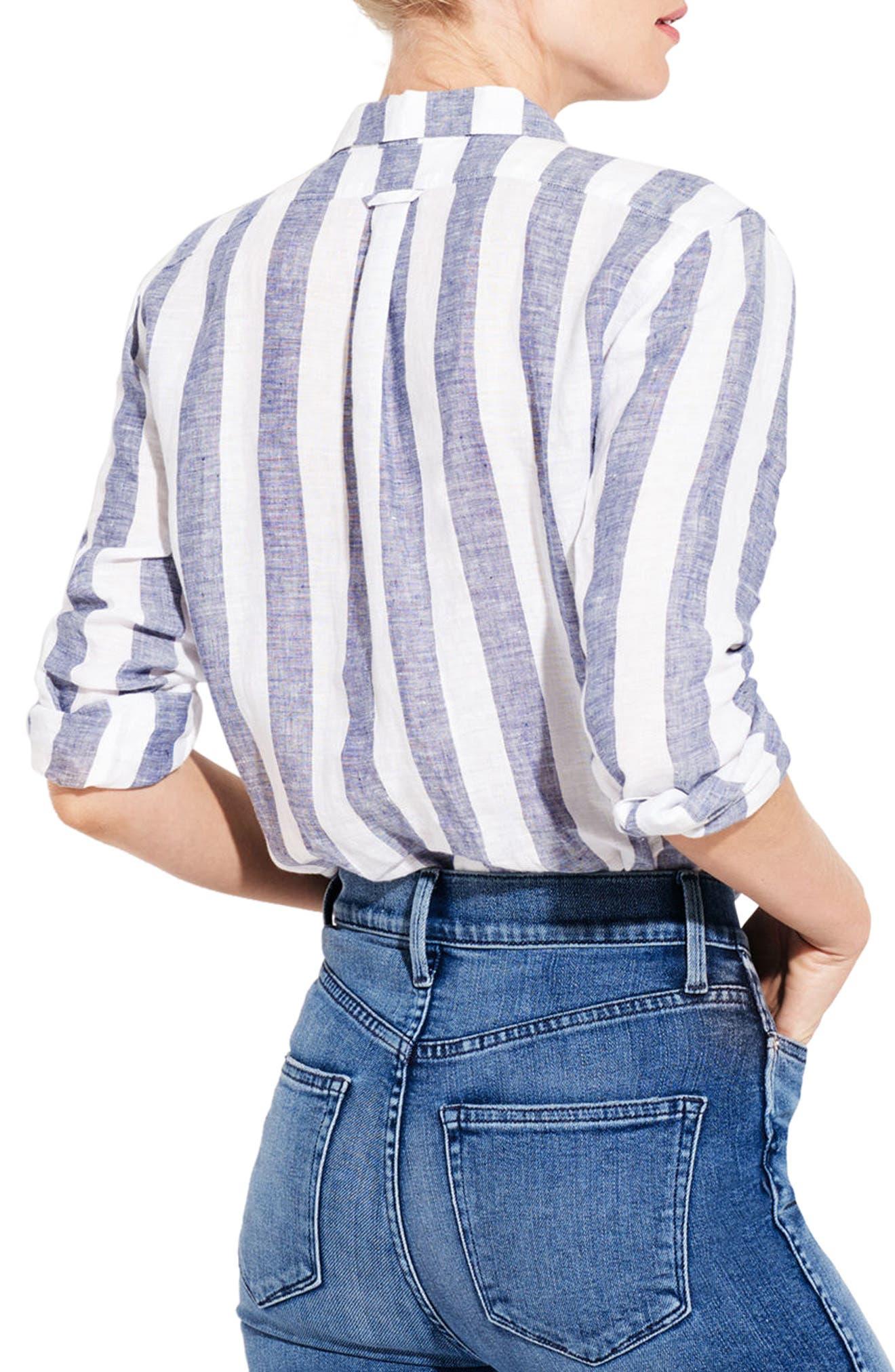 The Easy Linen Shirt,                             Alternate thumbnail 2, color,                             Bold Stripe