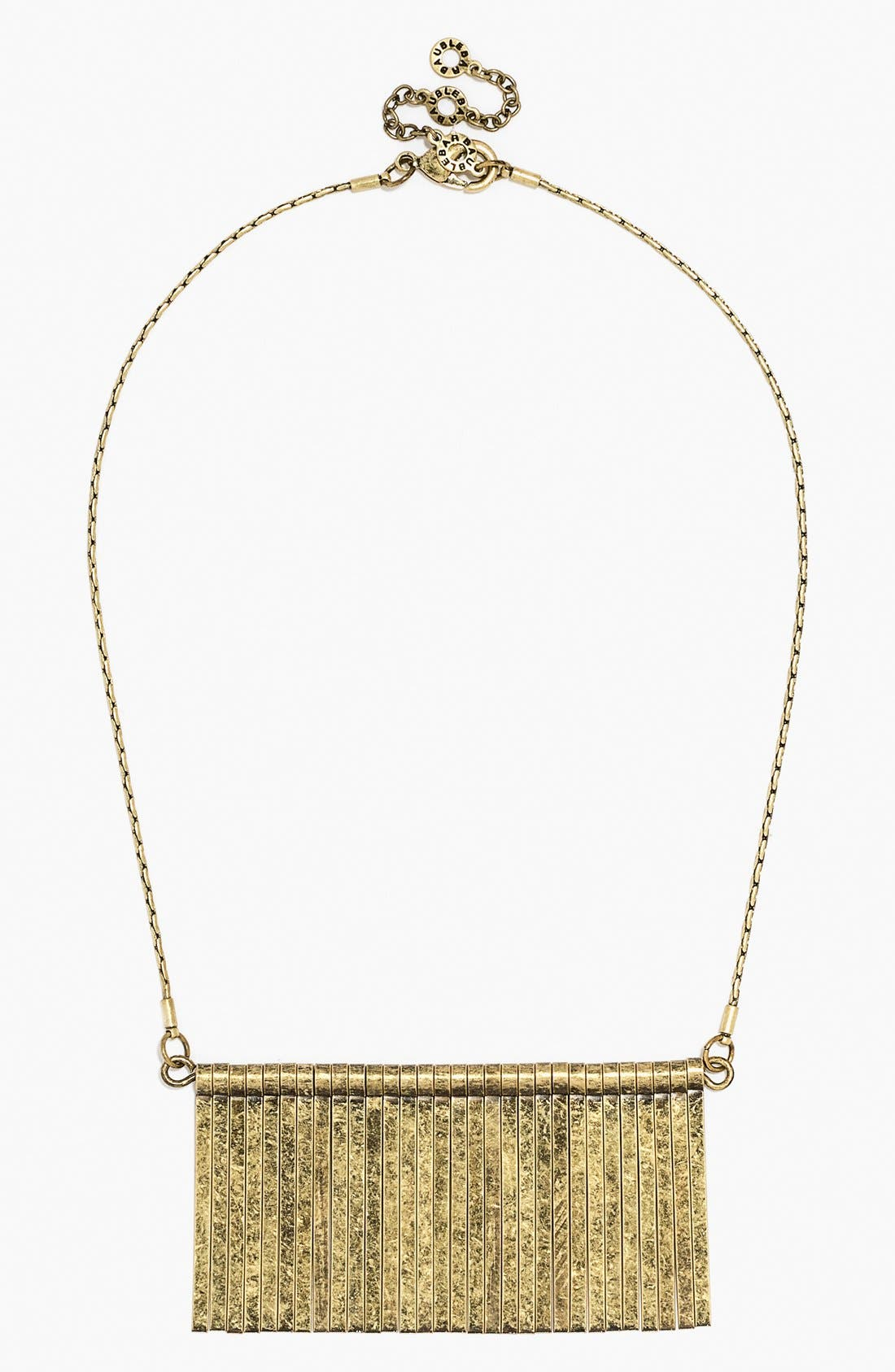 Fringe Bib Necklace,                             Main thumbnail 1, color,                             Antique Gold