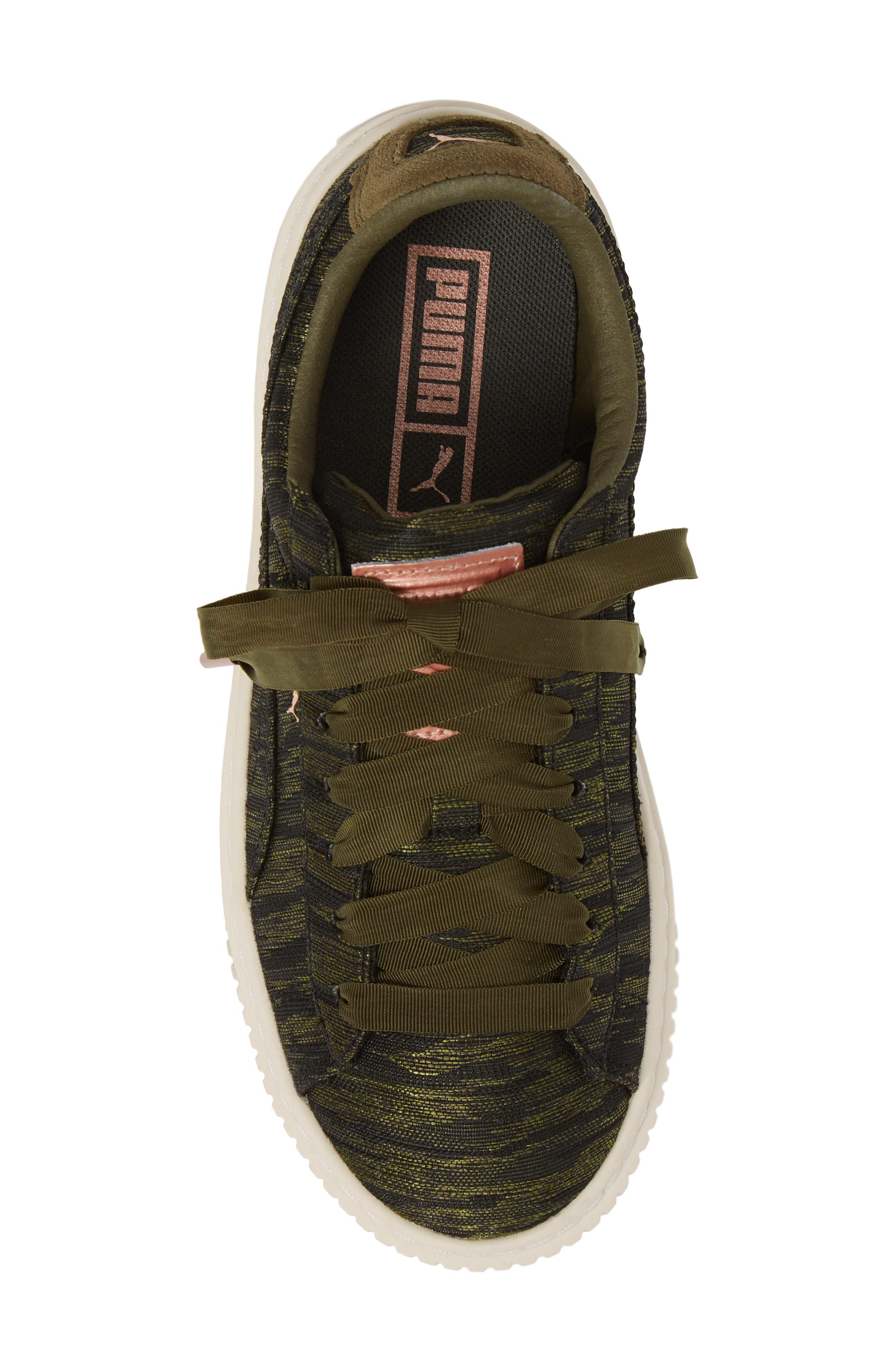 Alternate Image 5  - PUMA Basket Platform Sneaker (Women)