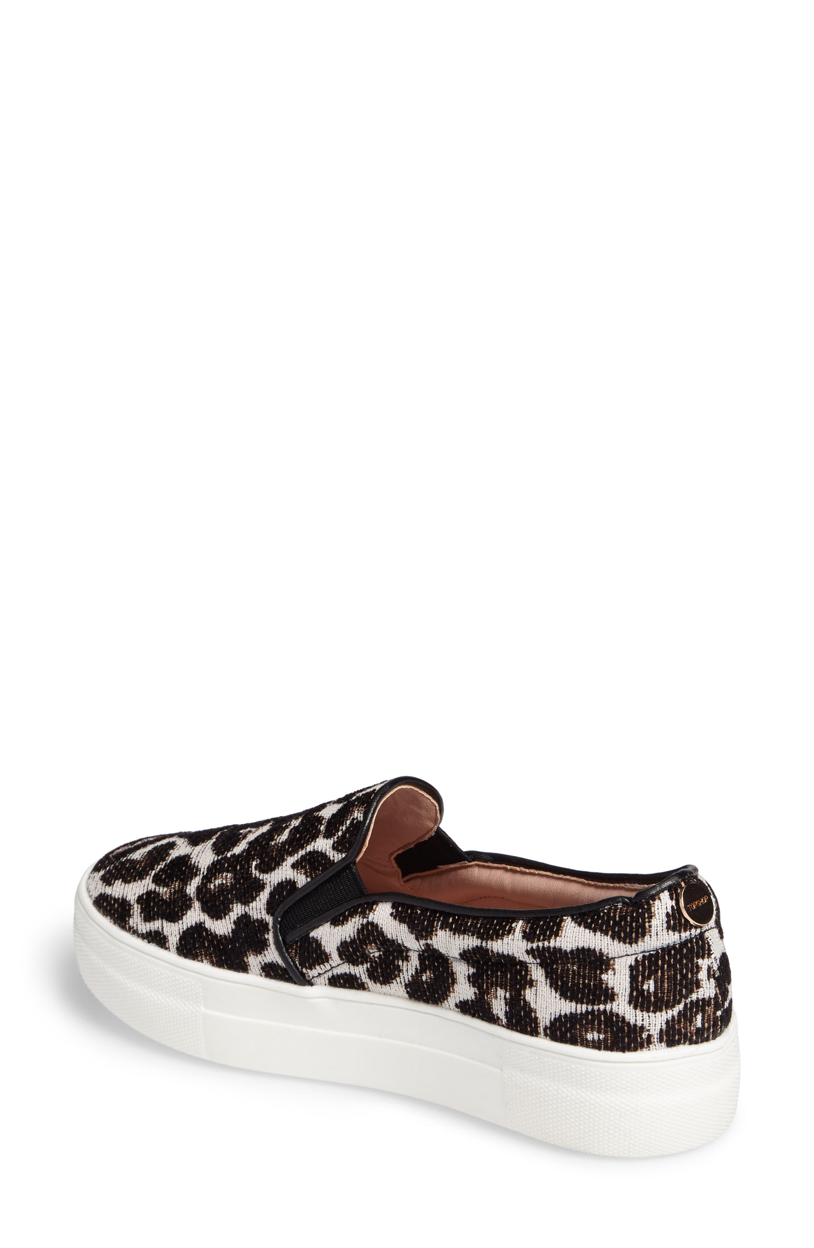 Alternate Image 2  - Topshop Tucker Leopard Print Slip-On Sneaker (Women)