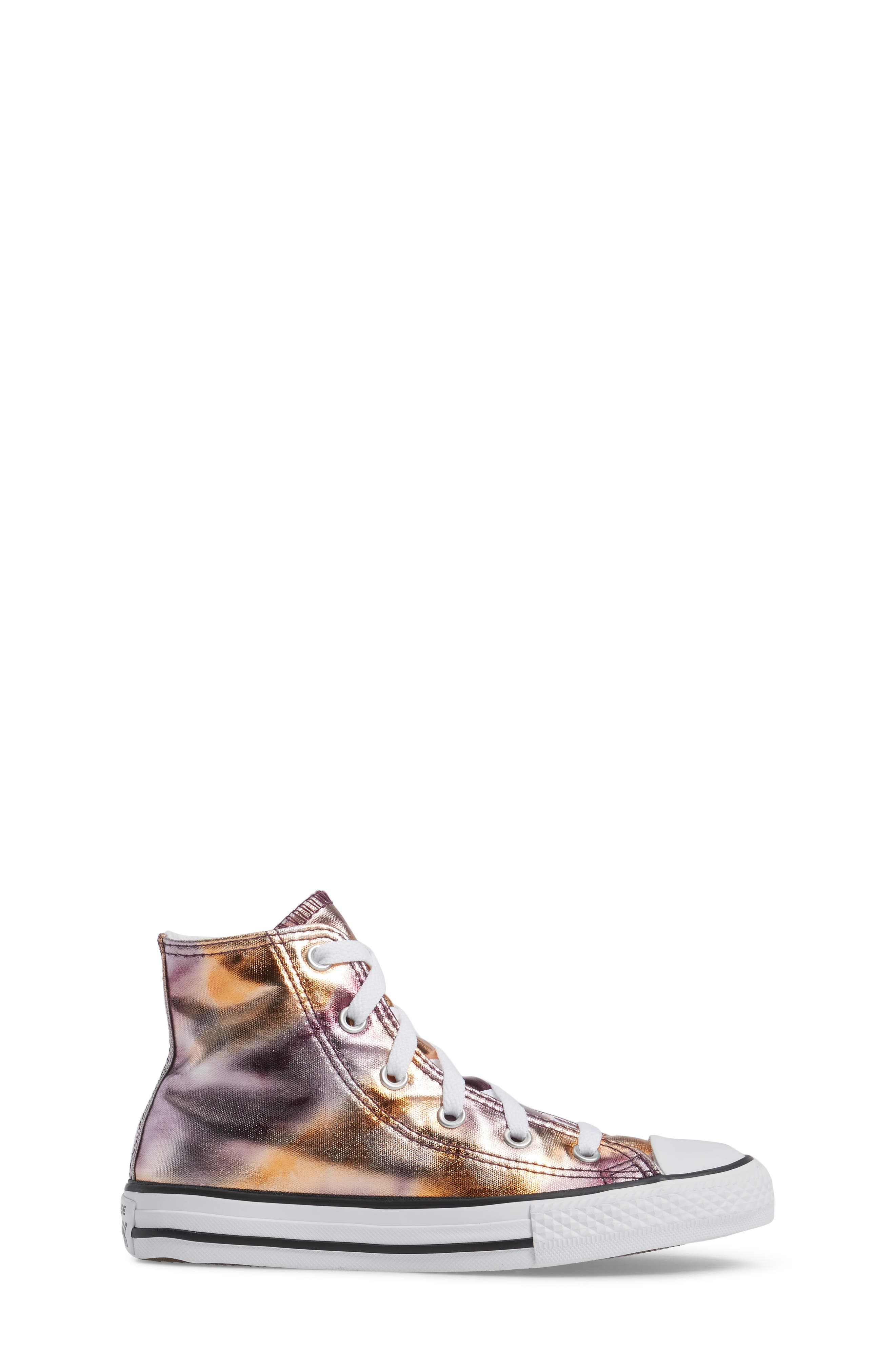 Chuck Taylor<sup>®</sup> All Star<sup>®</sup> Metallic High Top Sneaker,                             Alternate thumbnail 3, color,                             Dusk Pink Coated Canvas