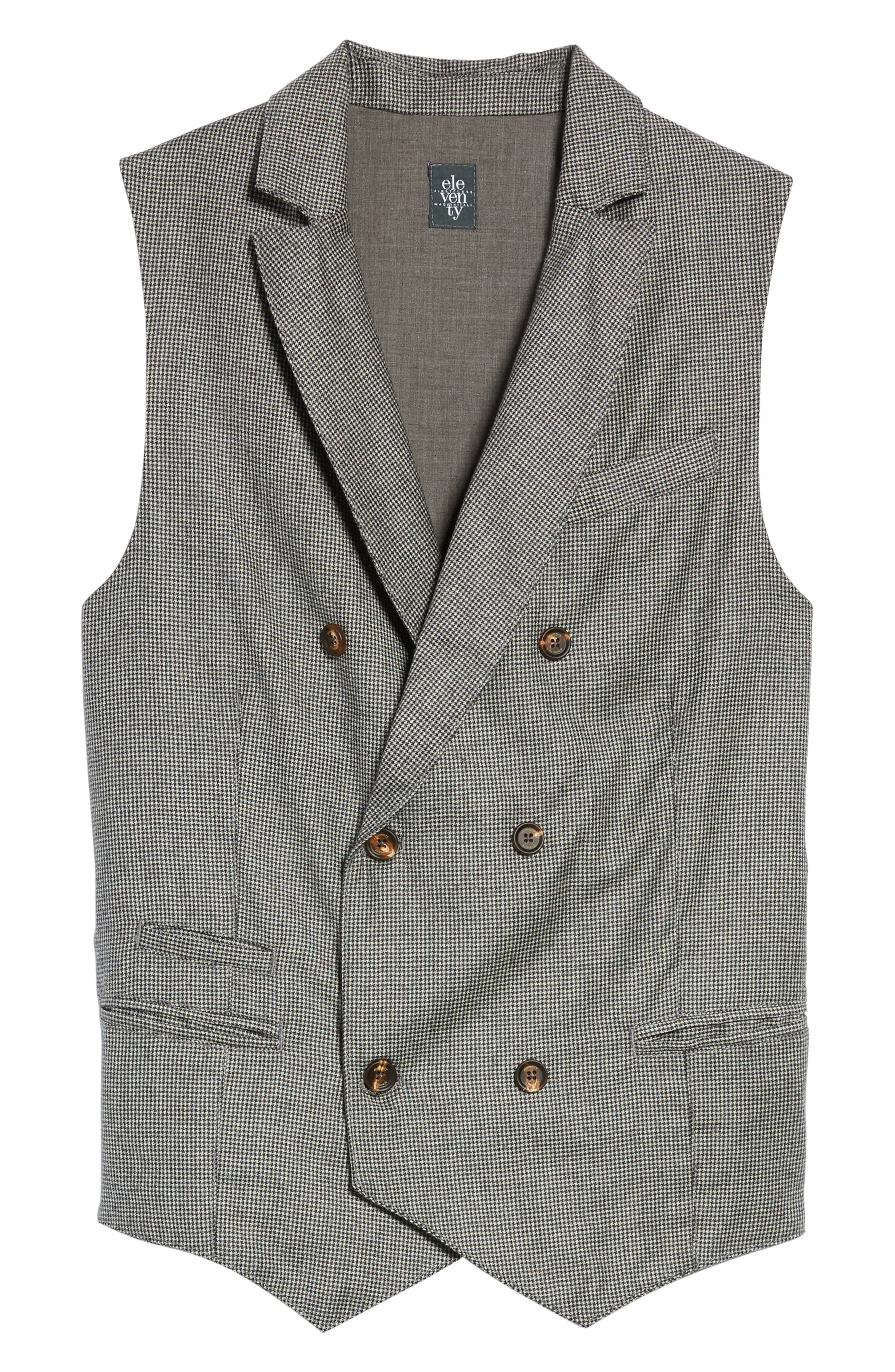 Alternate Image 6  - Eleventy Houndstooth Wool Double Breasted Vest