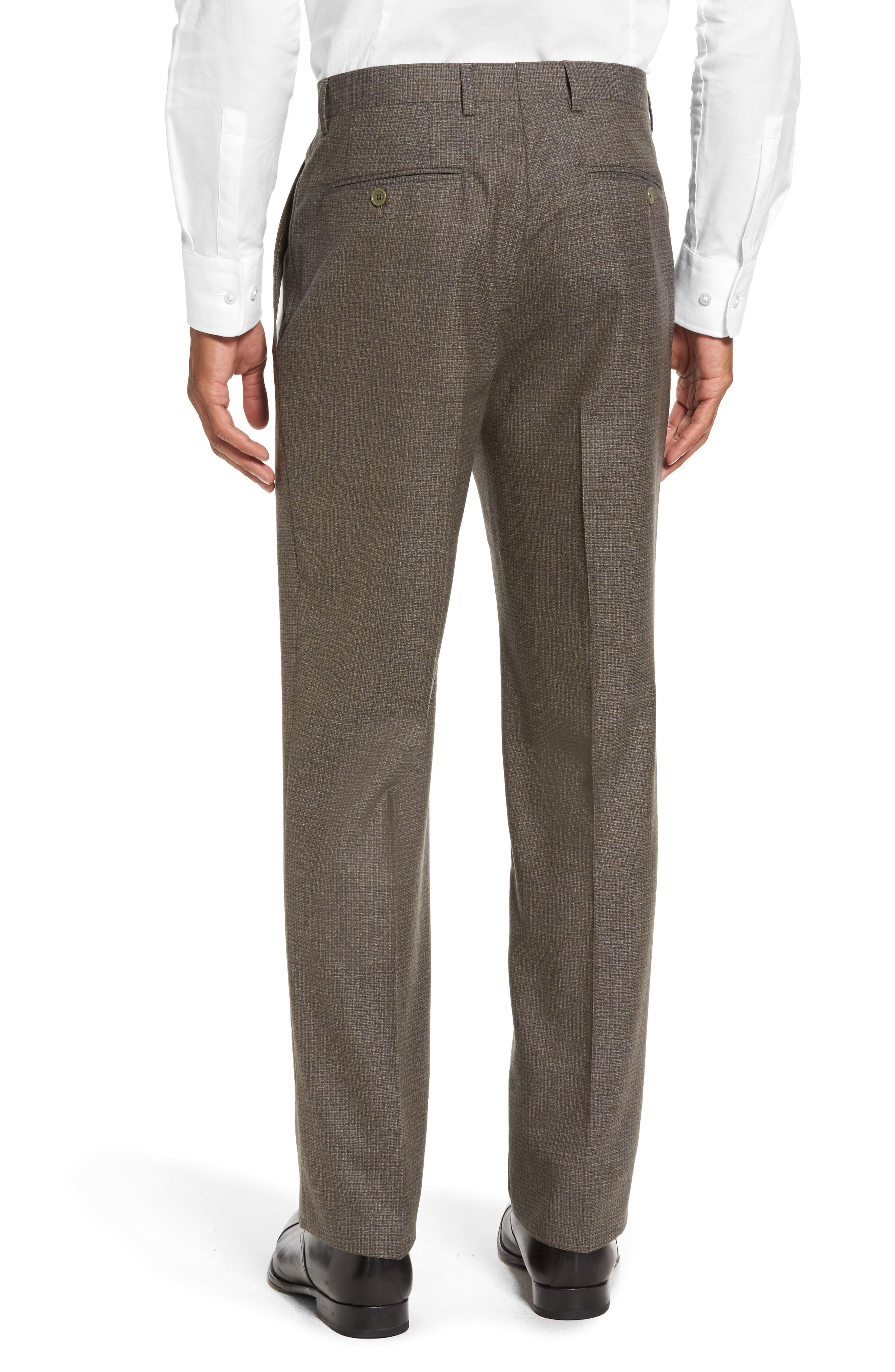 Romero Regular Fit Flat Front Trousers,                             Alternate thumbnail 2, color,                             Taupe