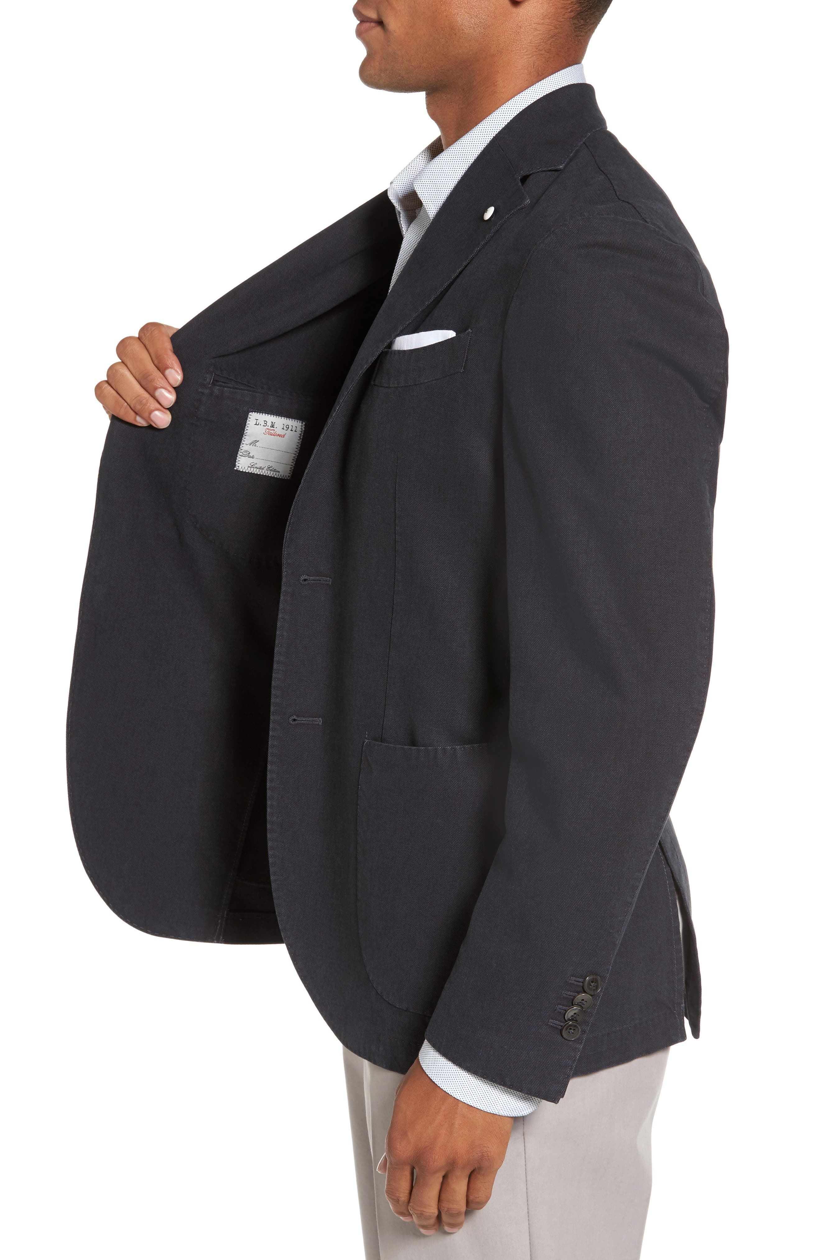 Alternate Image 3  - L.B.M. 1911 Classic Fit Cotton Blend Blazer