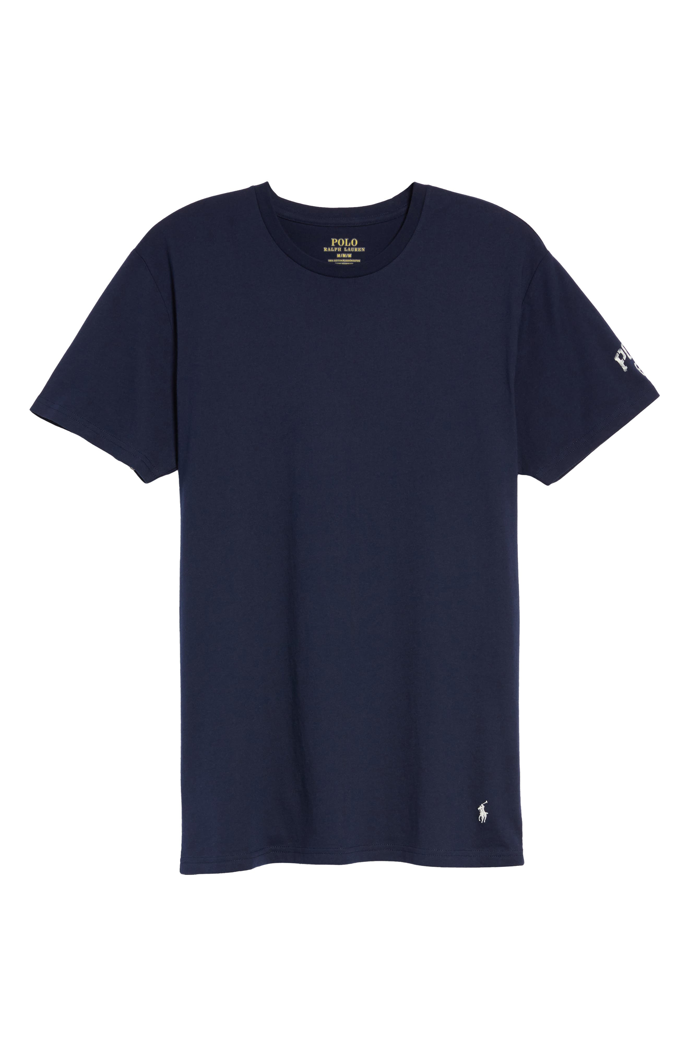 Crewneck T-Shirt,                             Alternate thumbnail 6, color,                             Cruise Navy